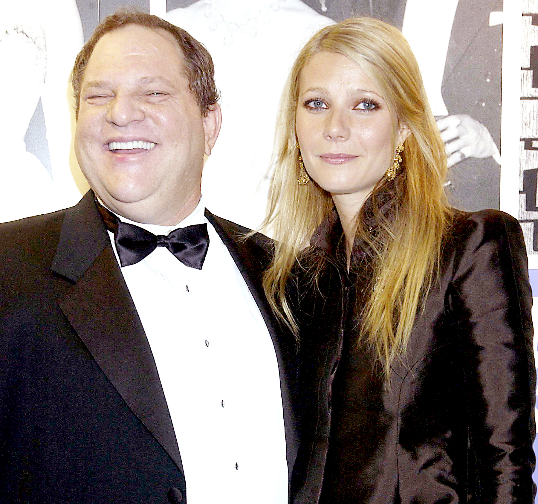 Gwyneth Paltrow with Harvey Weinstein at The 50th Anniversary Gala Of The National Film Theatre, at The National Film Theatre, London in 2002.