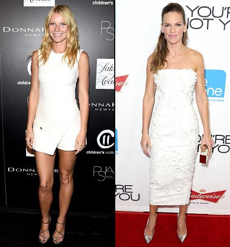 Gwyneth Paltrow and Hilary Swank - Night Looks