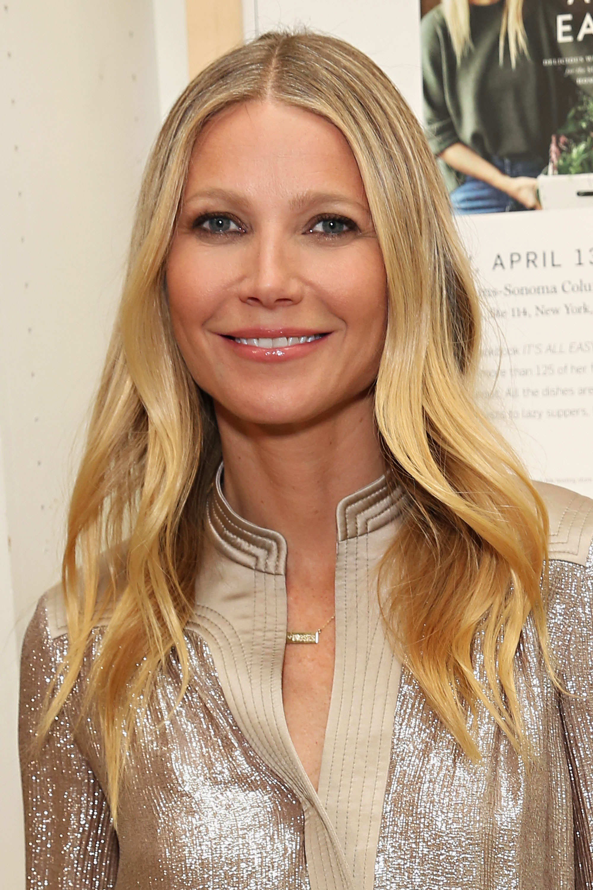 Gwyneth Paltrow looking glamorous to sign copies of her book 'It's All Easy' at Williams-Sonoma on April 13, 2016 in New York City
