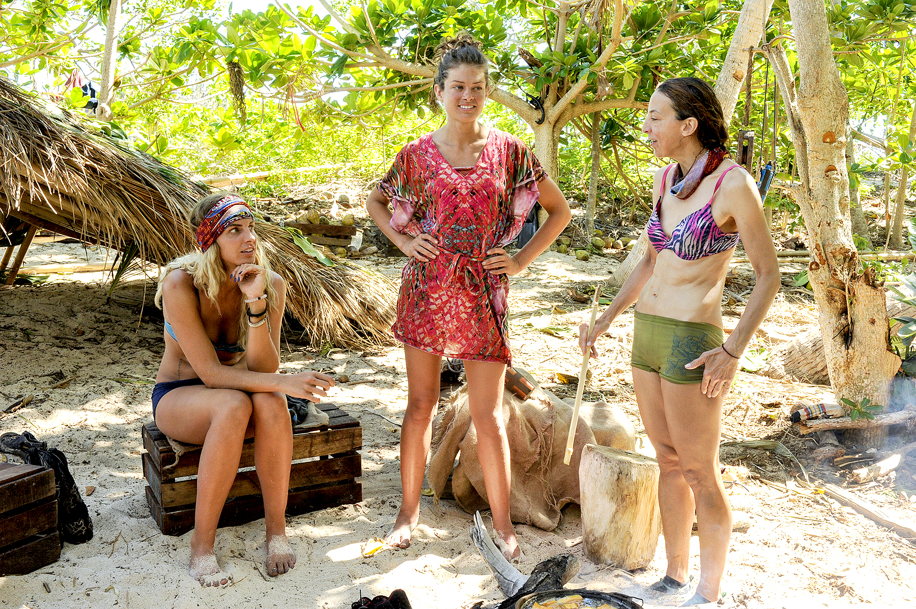 Sierra Dawn-Thomas, Hali Ford and Debbie Wanner on the third episode of SURVIVOR: Game Changers