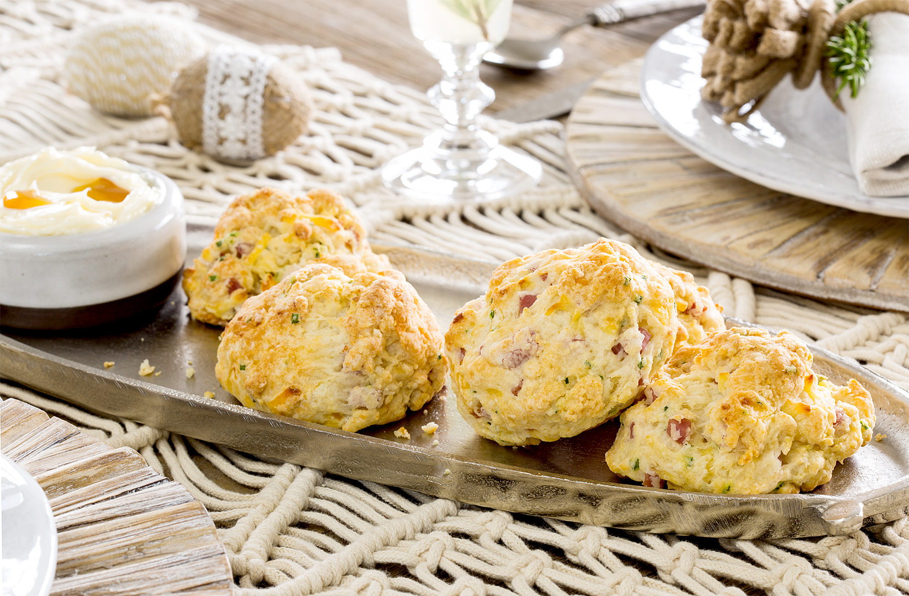 Ham and Smoked Gouda Biscuits