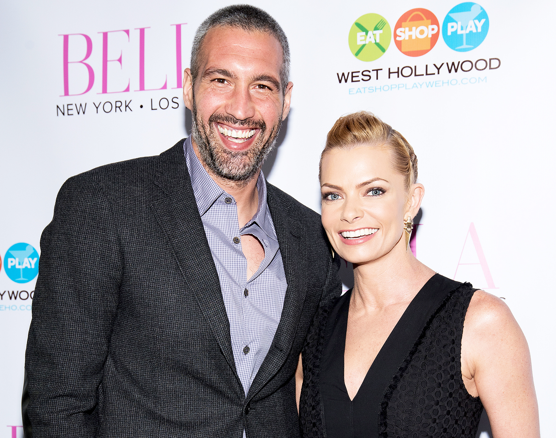 Hamzi Hijazi and Jamie Pressly attend BELLA New York Magazine Beauty Issue Cover Party at Sur Restaurant on May 21, 2016 in Los Angeles, California.