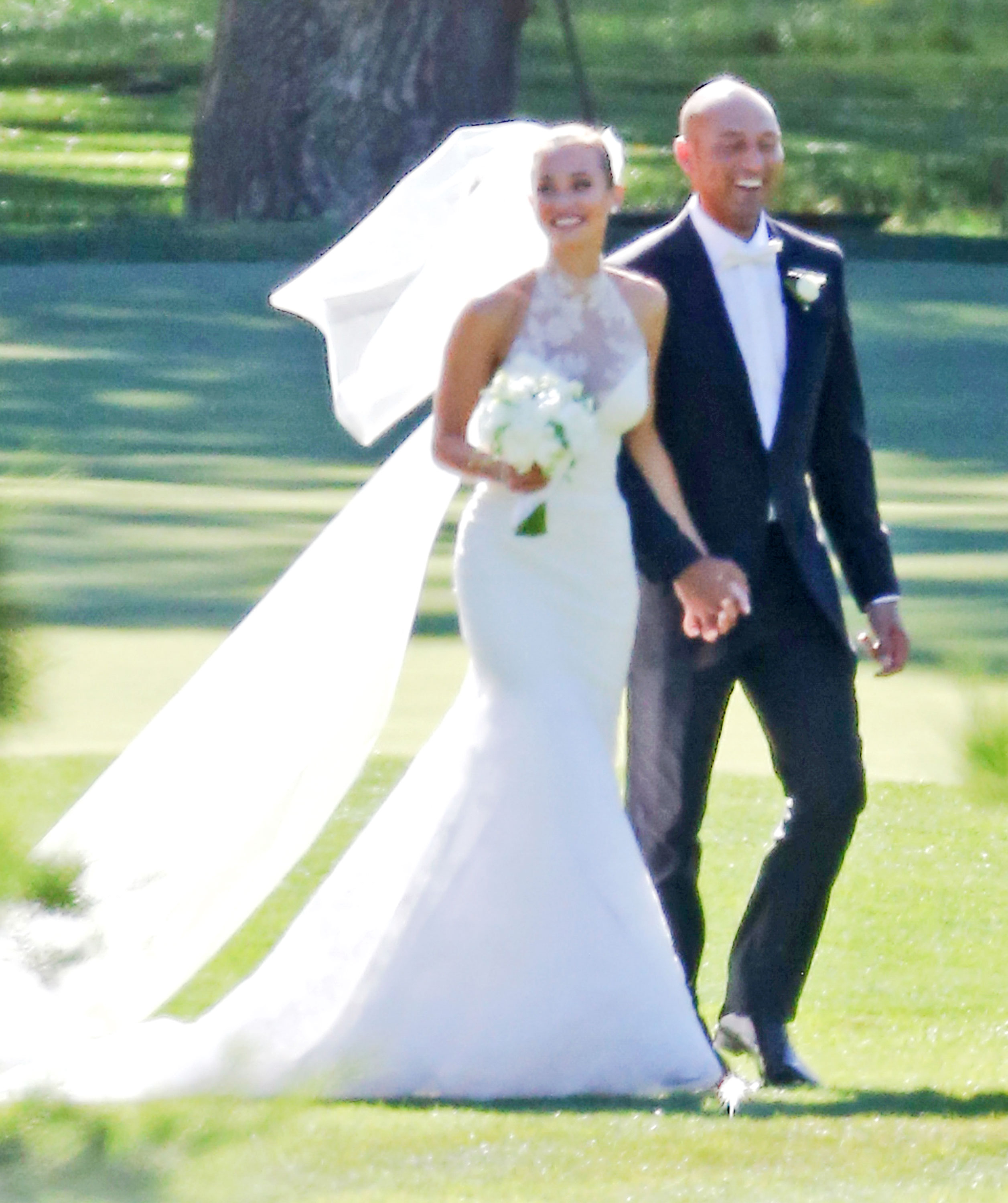 Hannah Davis And Derek Jeter On Their Wedding Day Infphoto Fameflynet