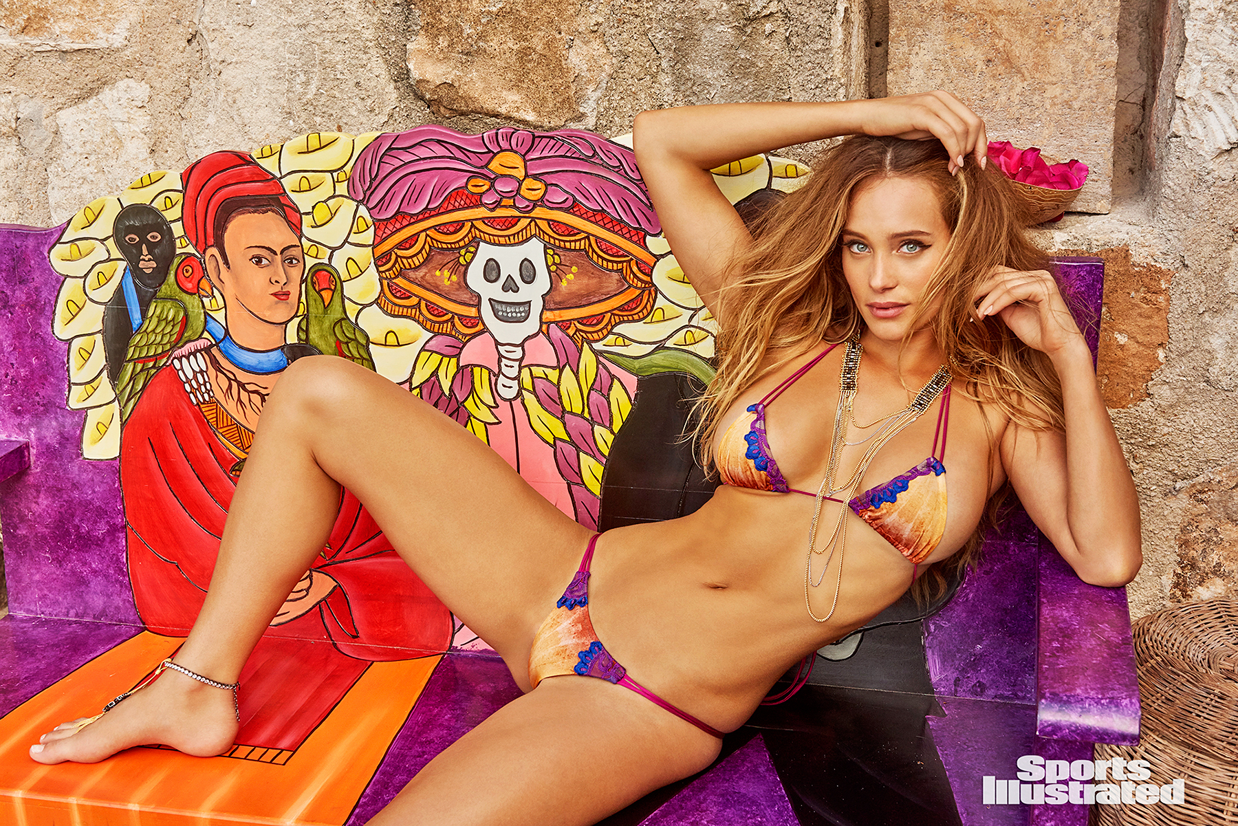 Hannah Davis poses for Sports Illustrated