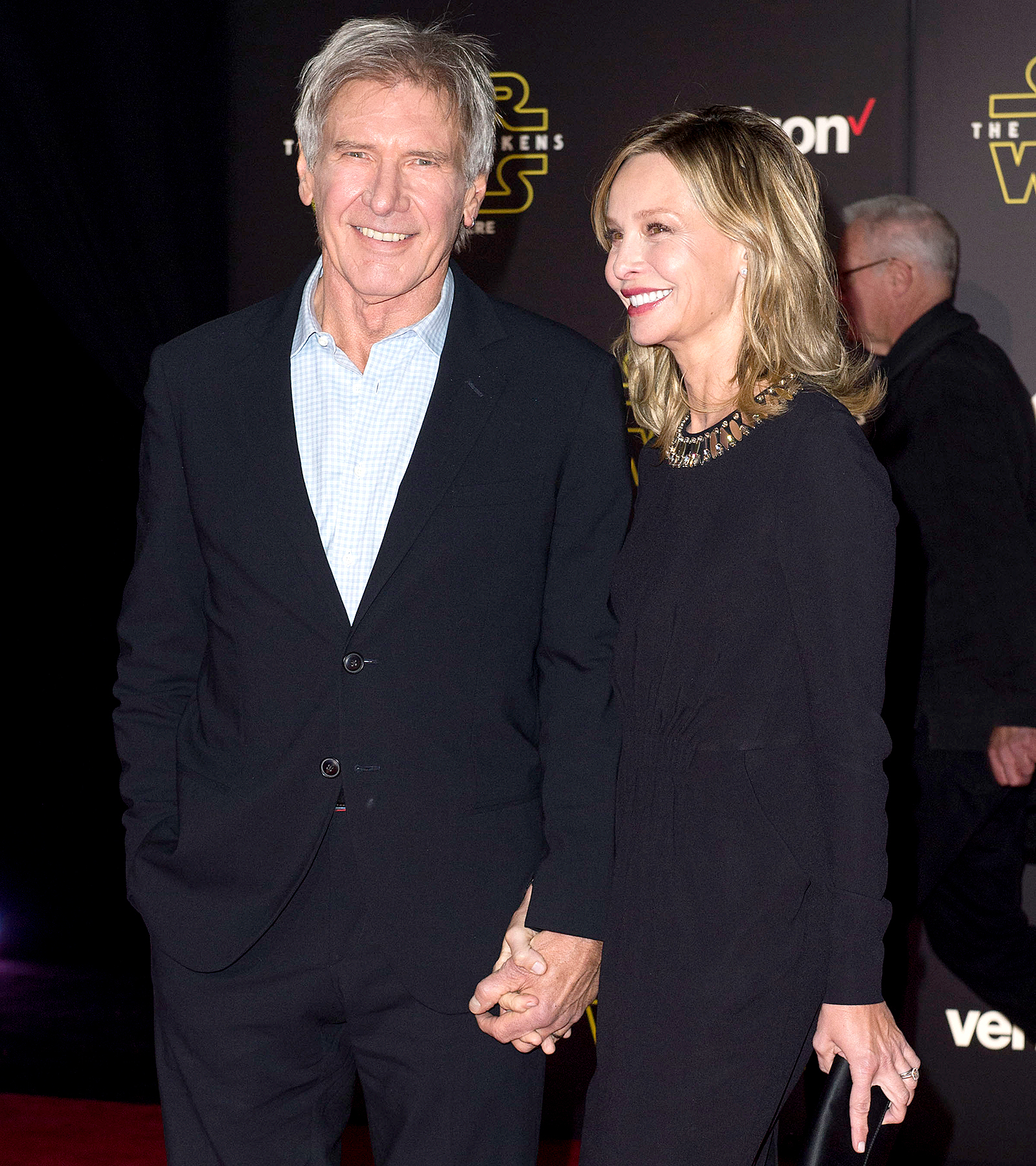 Harrison Ford and Calista Flockhart attend the world premiere of