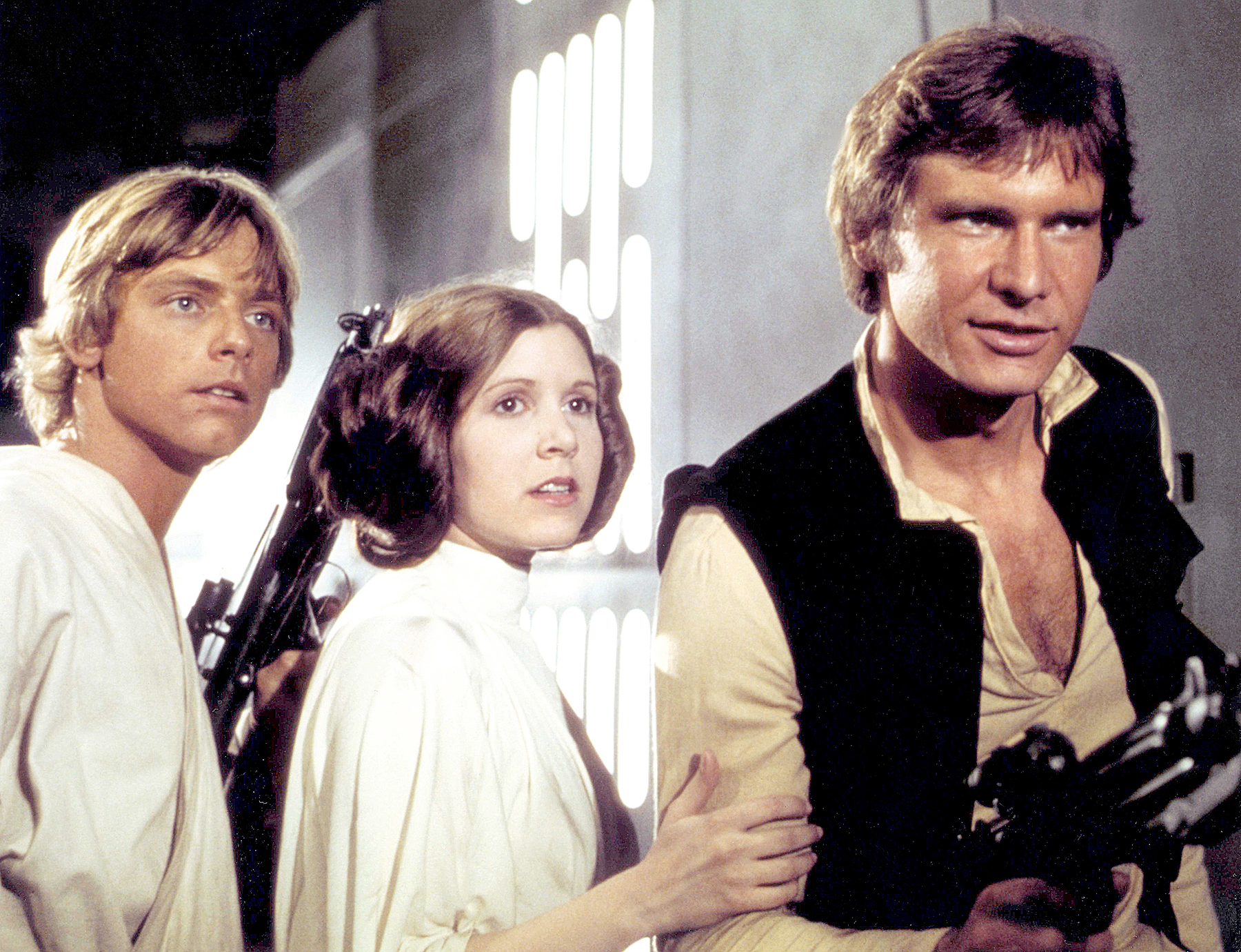 Mark Hamill Carrie Fisher Harrison Ford Star Wars: Episode IV - A New Hope