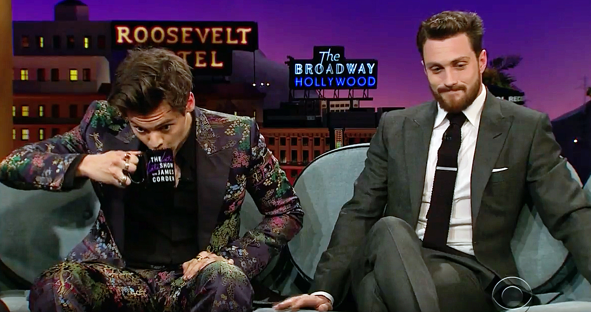 Harry Styles Aaron Taylor Johnson The Late Late Show With James Corden