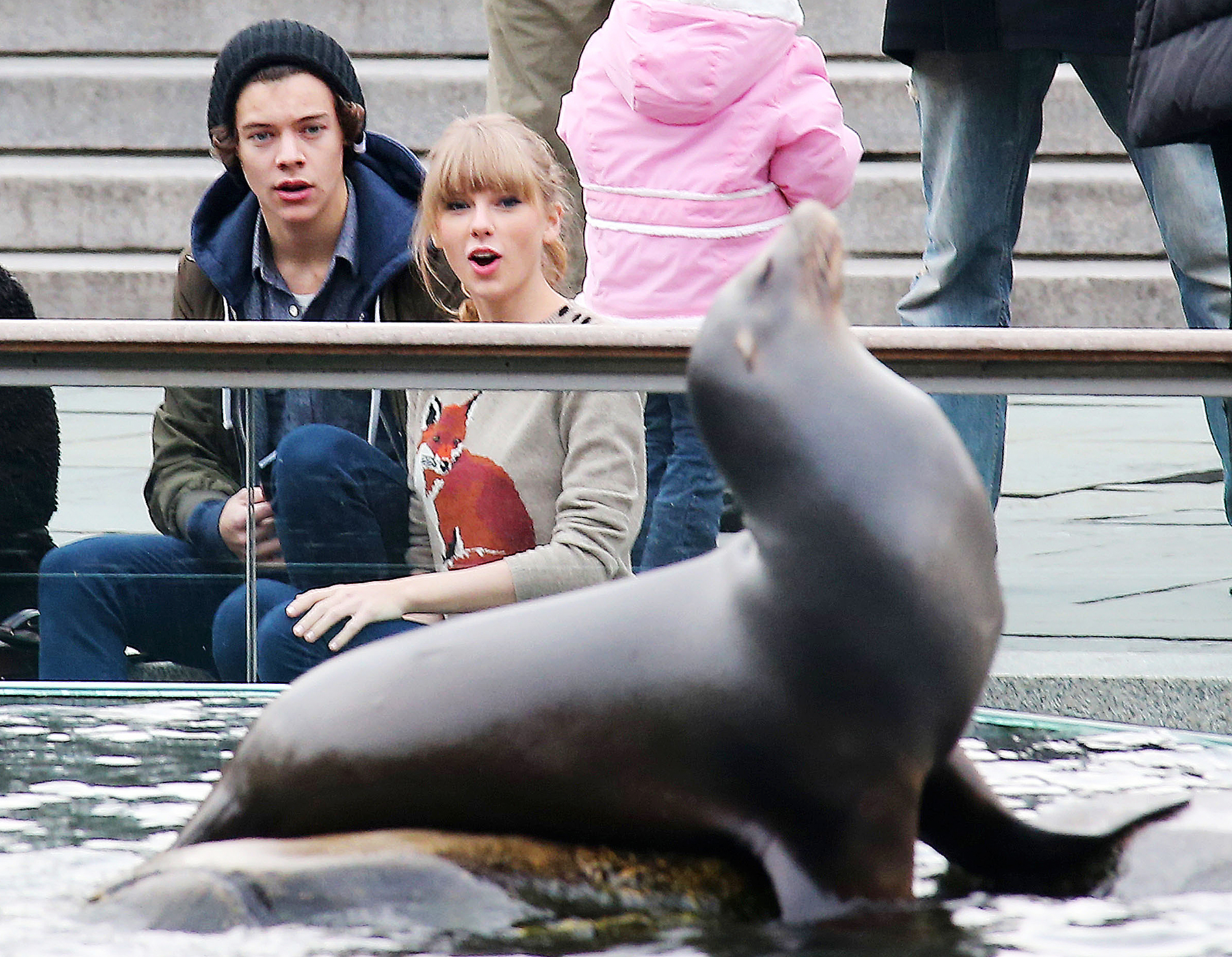 Harry Styles and Taylor Swift at the Central Park Zoo