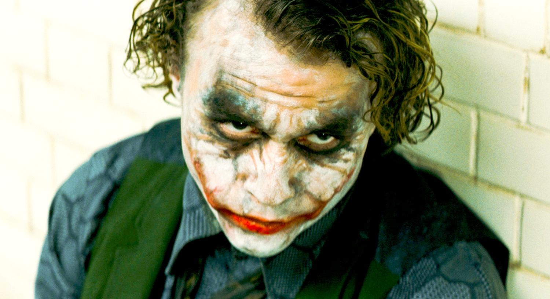 Heath Ledger stars as The Joker in The Dark Knight.