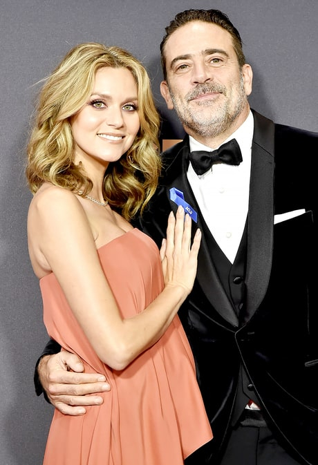 Jeffrey Dean Morgan and Hilarie Burton attend the 69th Annual Primetime Emmy Awards at Microsoft Theater on September 17, 2017 in Los Angeles, California.