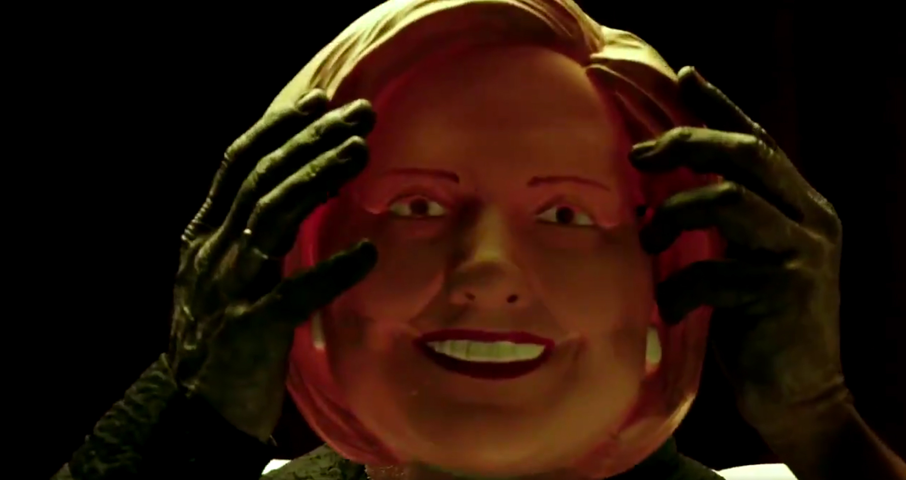 A Hillary Clinton mask appears in the American Horror Story: Cult's credits.
