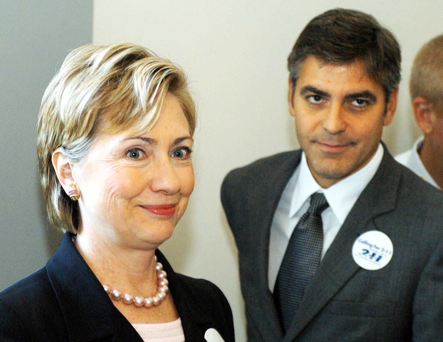 Hillary Clinton and George Clooney