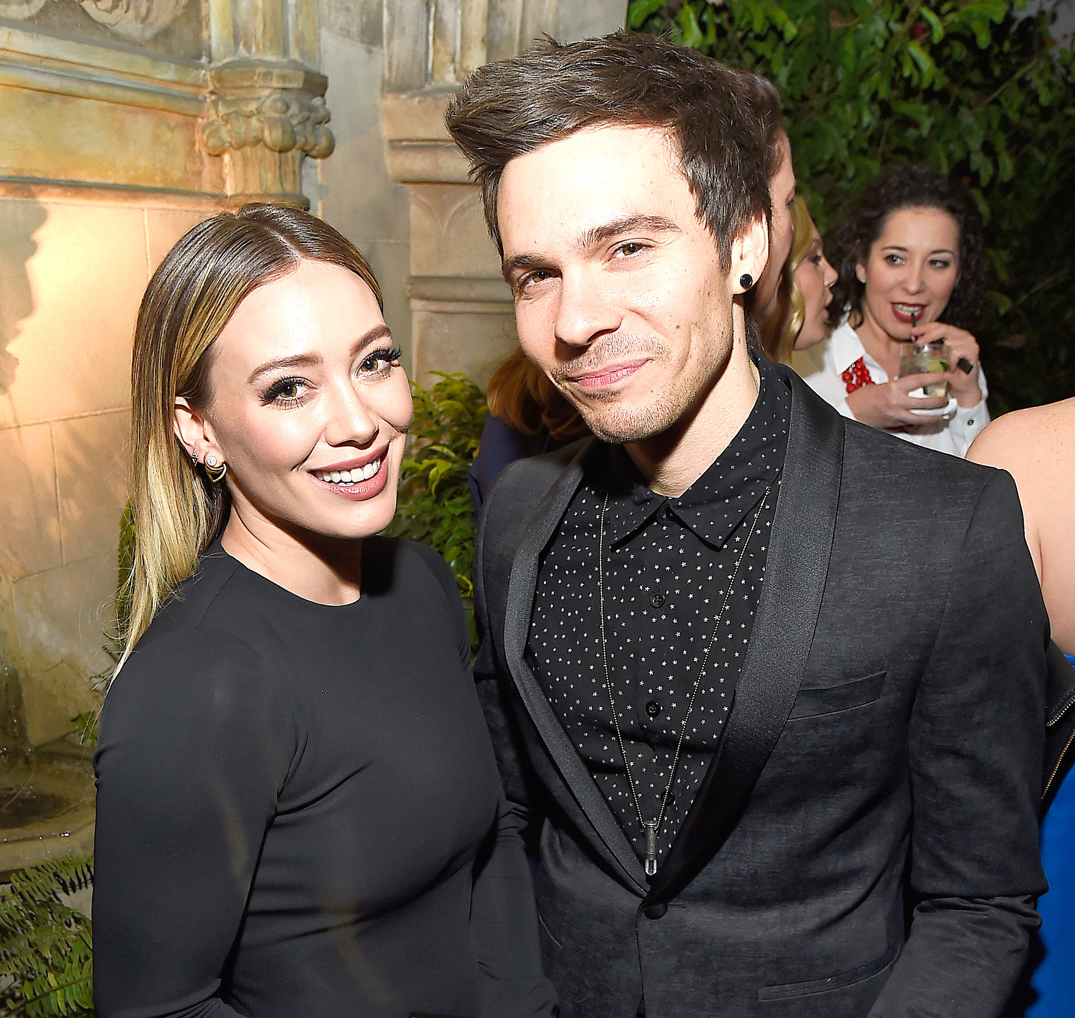 Actress Hilary Duff (left) and musician Matthew Koma attend the Entertainment Weekly Celebration of SAG Award Nominees sponsored by Maybelline New York at Chateau Marmont on January 28, 2017 in Los Angeles, California.
