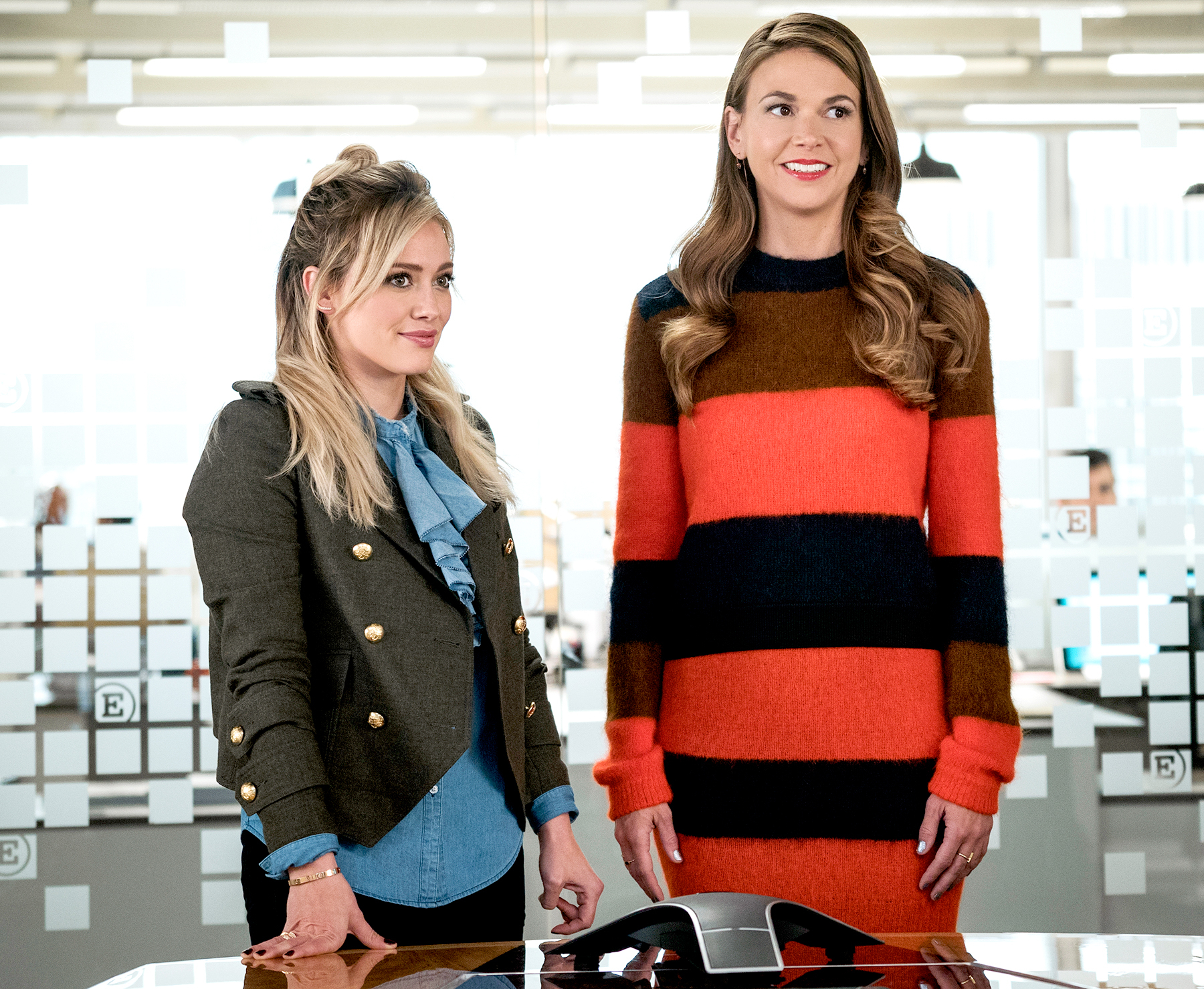 Hilary Duff and Sutton Foster on Younger.