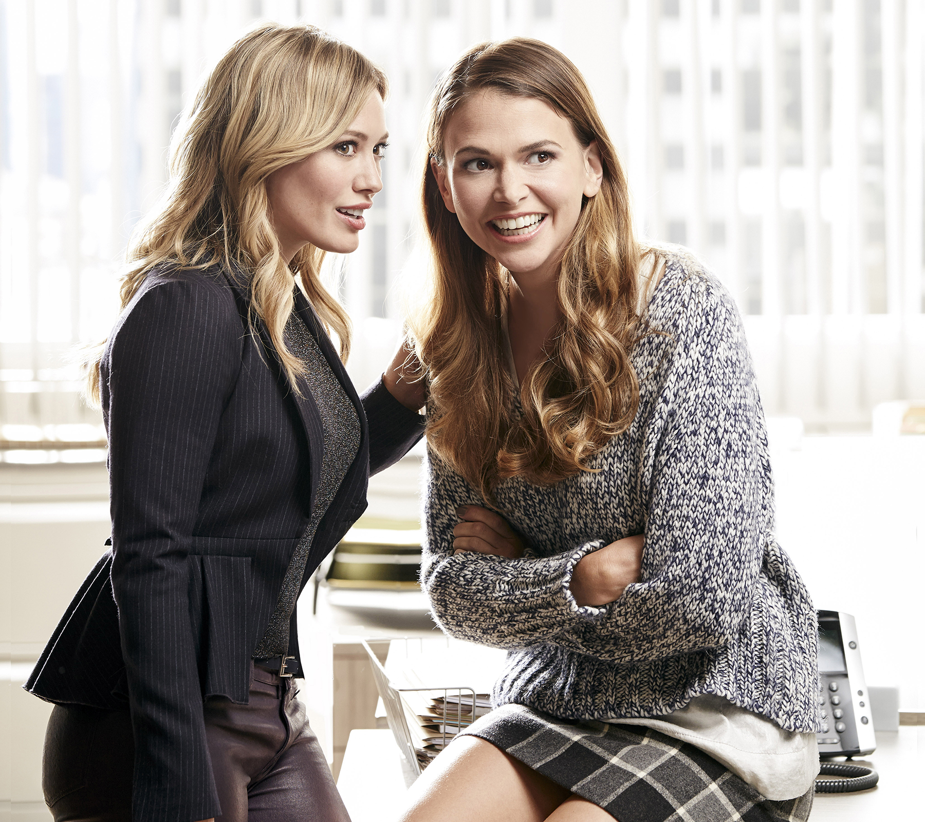 Hilary Duff and Sutton Foster on 'Younger.'