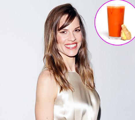 hilary swank juice