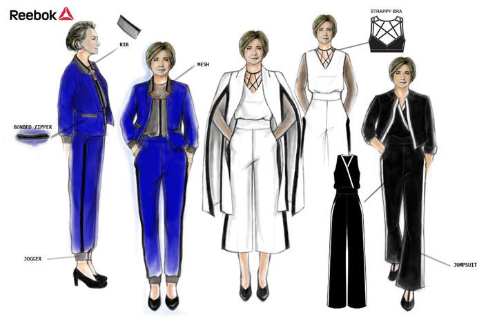 reebok reimagines hillary clinton s power suit pics