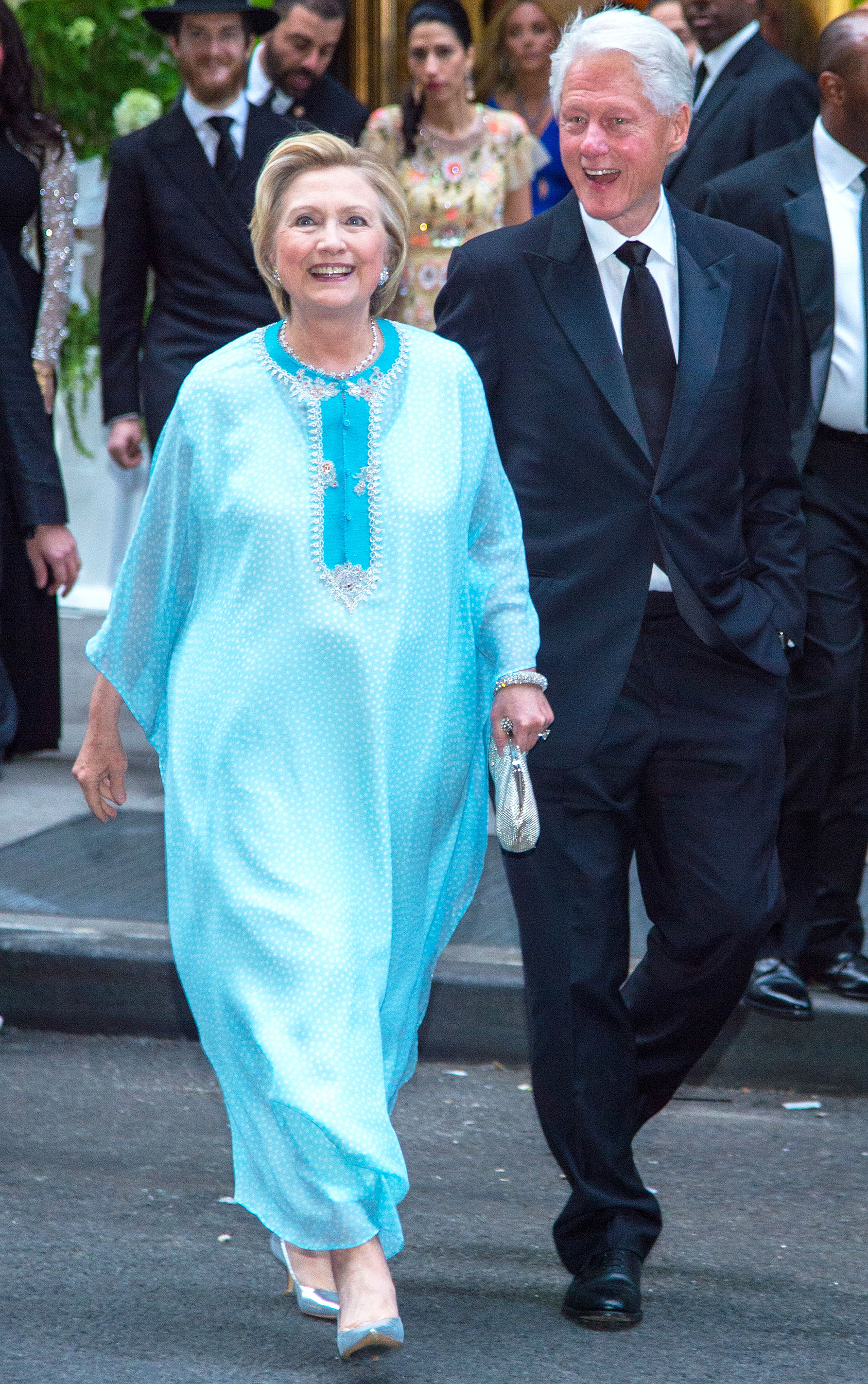 Hillary Clinton Trades Her Pantsuit for a Caftan: Pics
