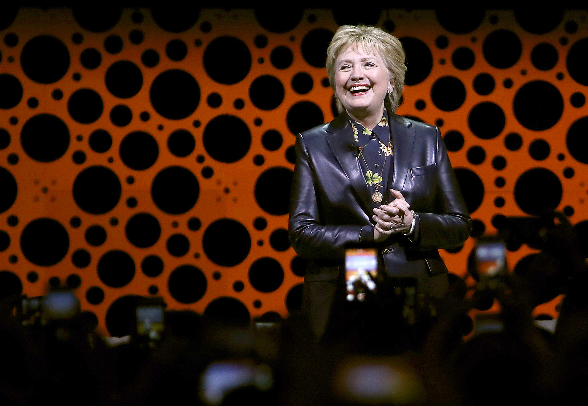Former Secretary of State Hillary Clinton delivers a keynote address during the 28th Annual Professional Business Women of California conference on March 28, 2017 in San Francisco, California.