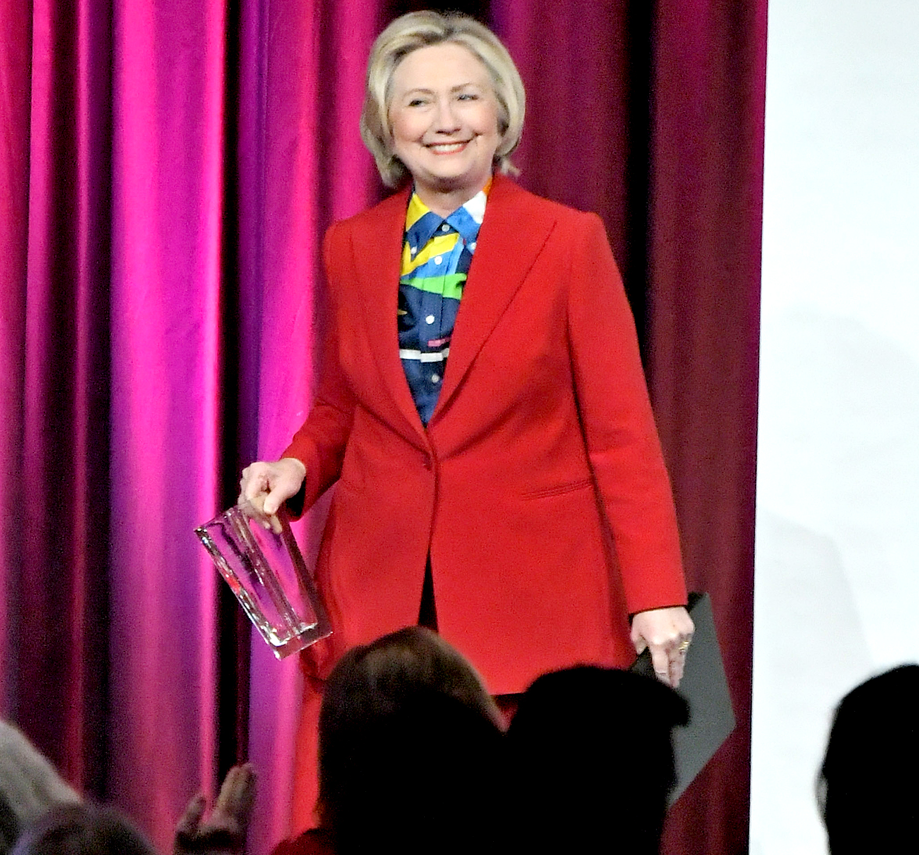 Hillary Clinton speaks onstage during the 2017 Girls Inc. New York luncheon celebrating women of achievement at New York Marriott Marquis Hotel on March 7, 2017 in New York City.