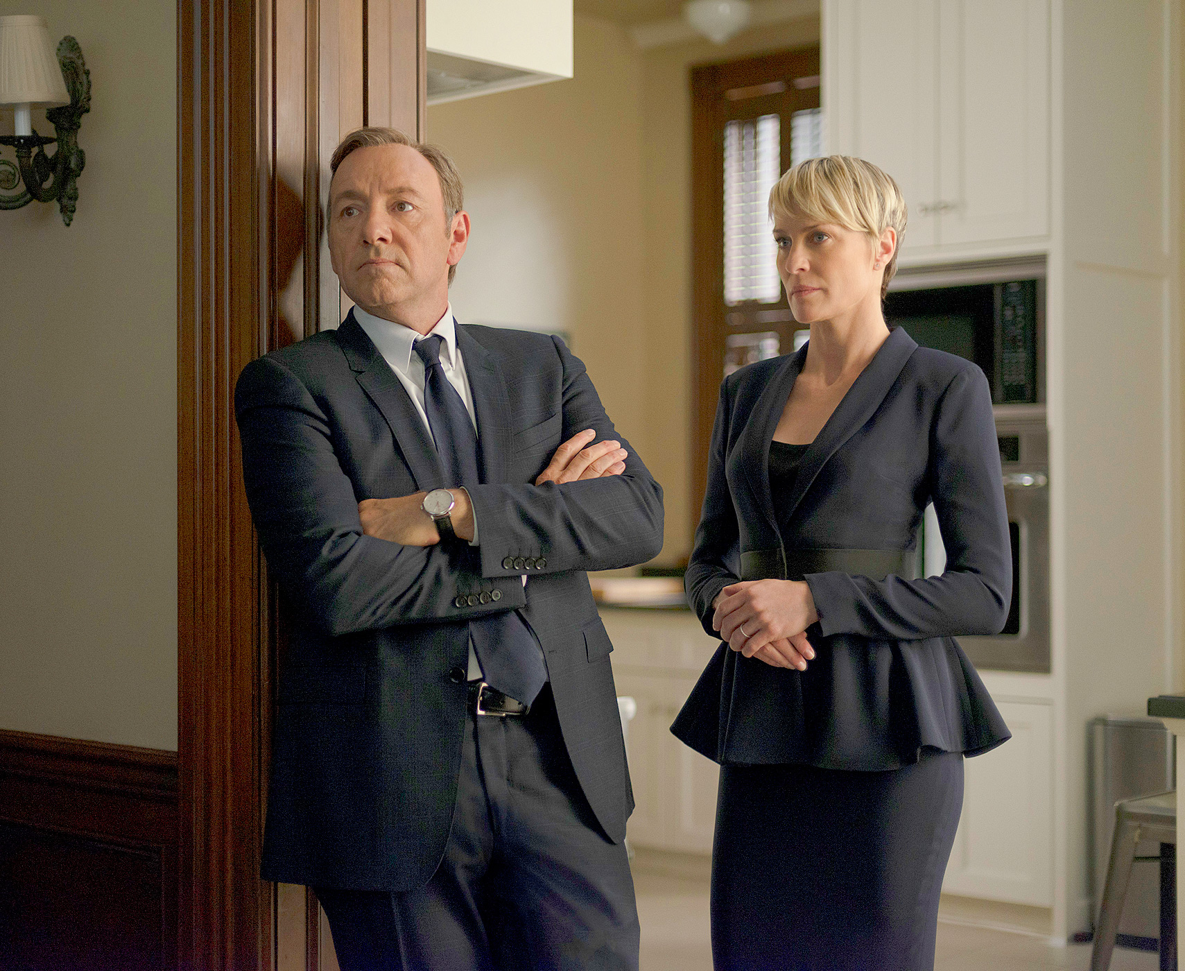 Kevin Spacey and Robin Wright on 'House of Cards'