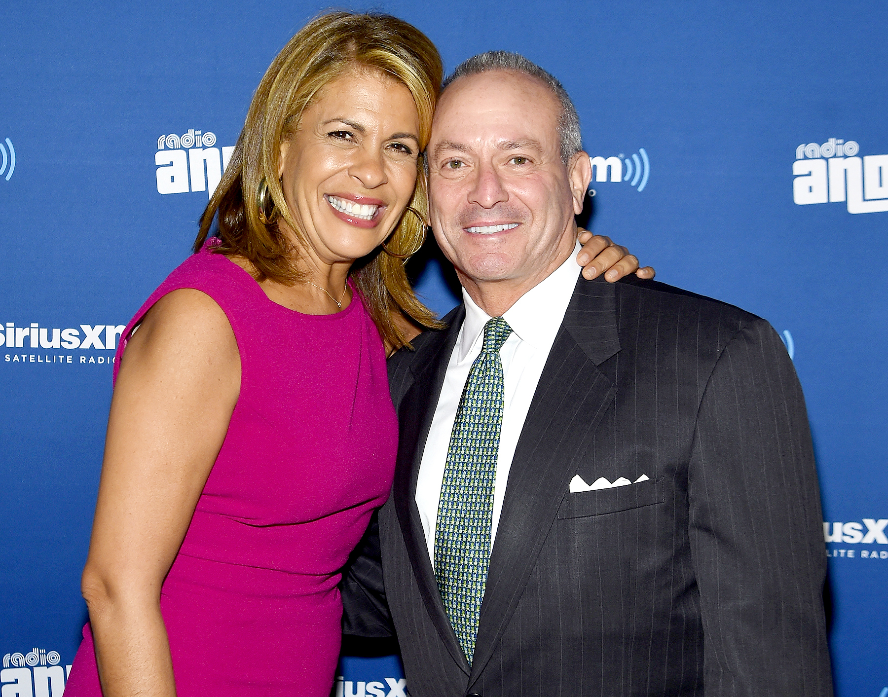 Hoda Kotb and Joel Schiffman attend Andy Cohen & SiriusXM celebrate the launch of Cohen's New, Exclusive SiriusXM Channel, Radio Andy, at PHD Rooftop Lounge at The Dream Downtown in New York City on October 22, 2015 in New York City.