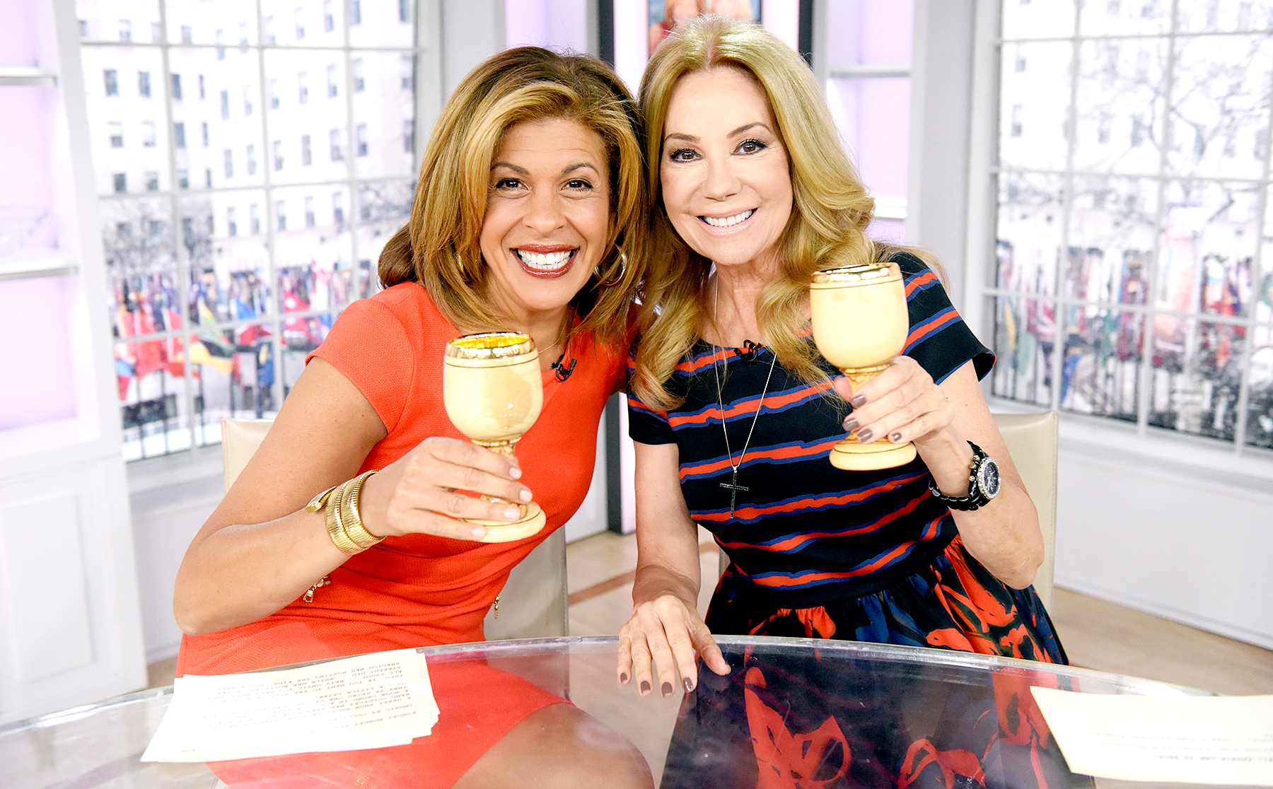 """Hoda Kotb and Kathie Lee Gifford appear on the """"Today"""" show on Monday, March 14, 2016 from Rockefeller Plaza in New York"""