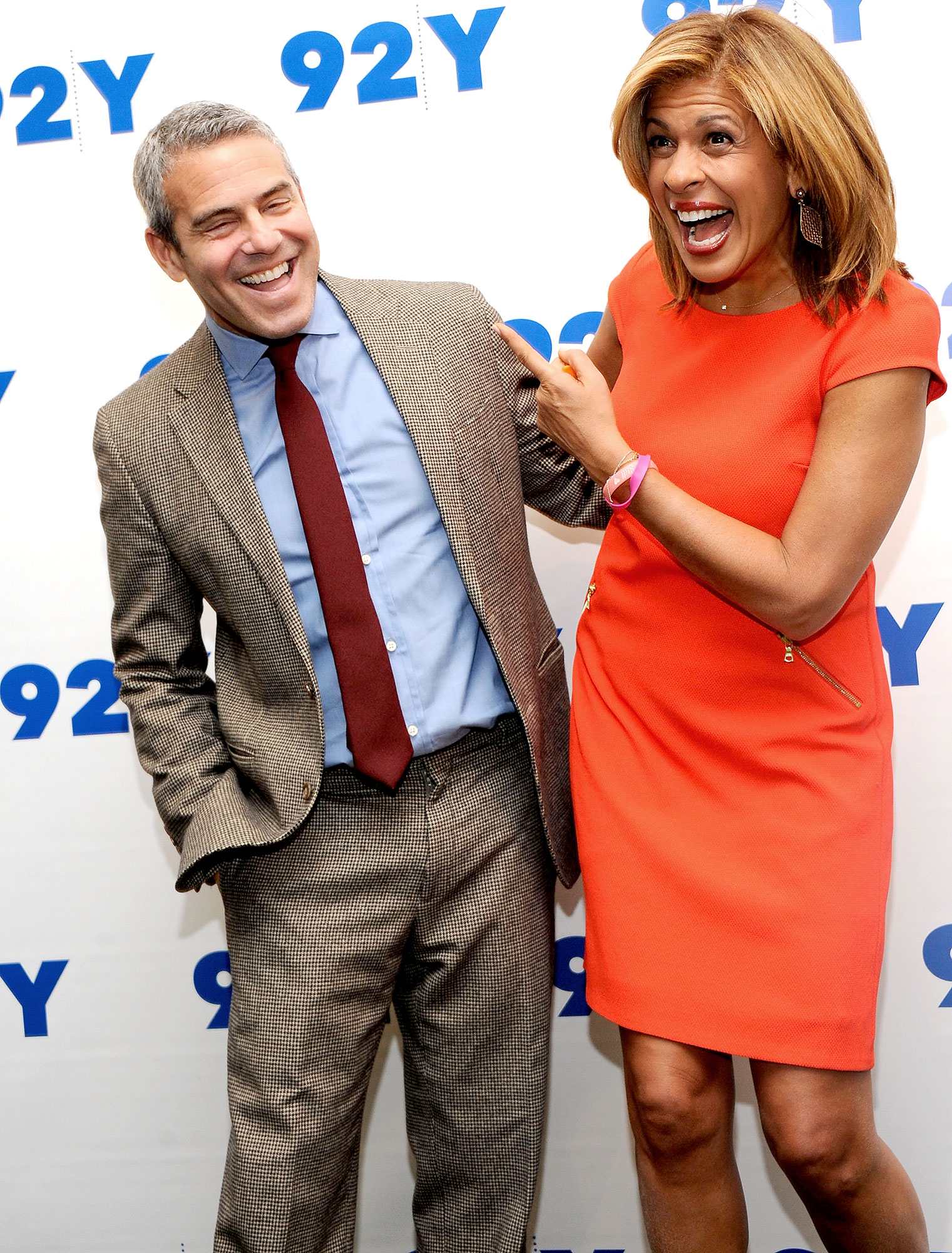 Andy Cohen and Hoda Kotb attend 92nd Street Y Presents: Hoda Kotb and Andy Cohen In Conversation at 92nd Street Y on January 6, 2016 in New York City.