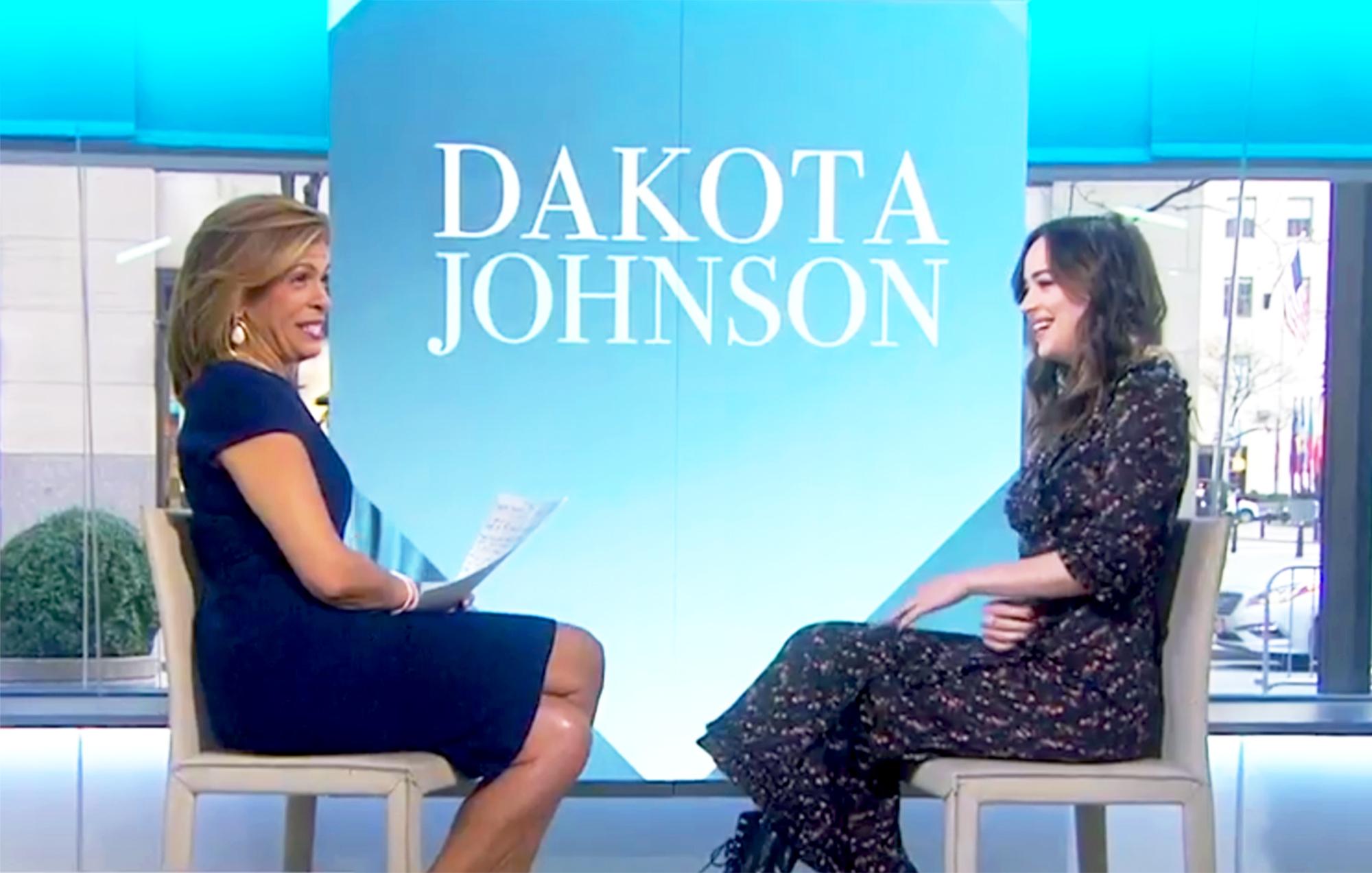 Hoda Kotb and Dakota Johnson