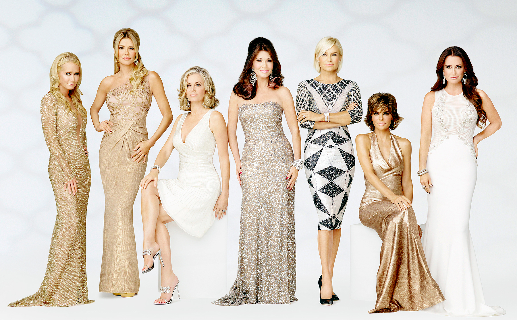 Kim Richards, Brandi Glanville, Eileen Davidson, Lisa Vanderpump, Yolanda H. Foster, Lisa Rinna, and Kyle Richards on The Real Housewives Of Beverly Hills