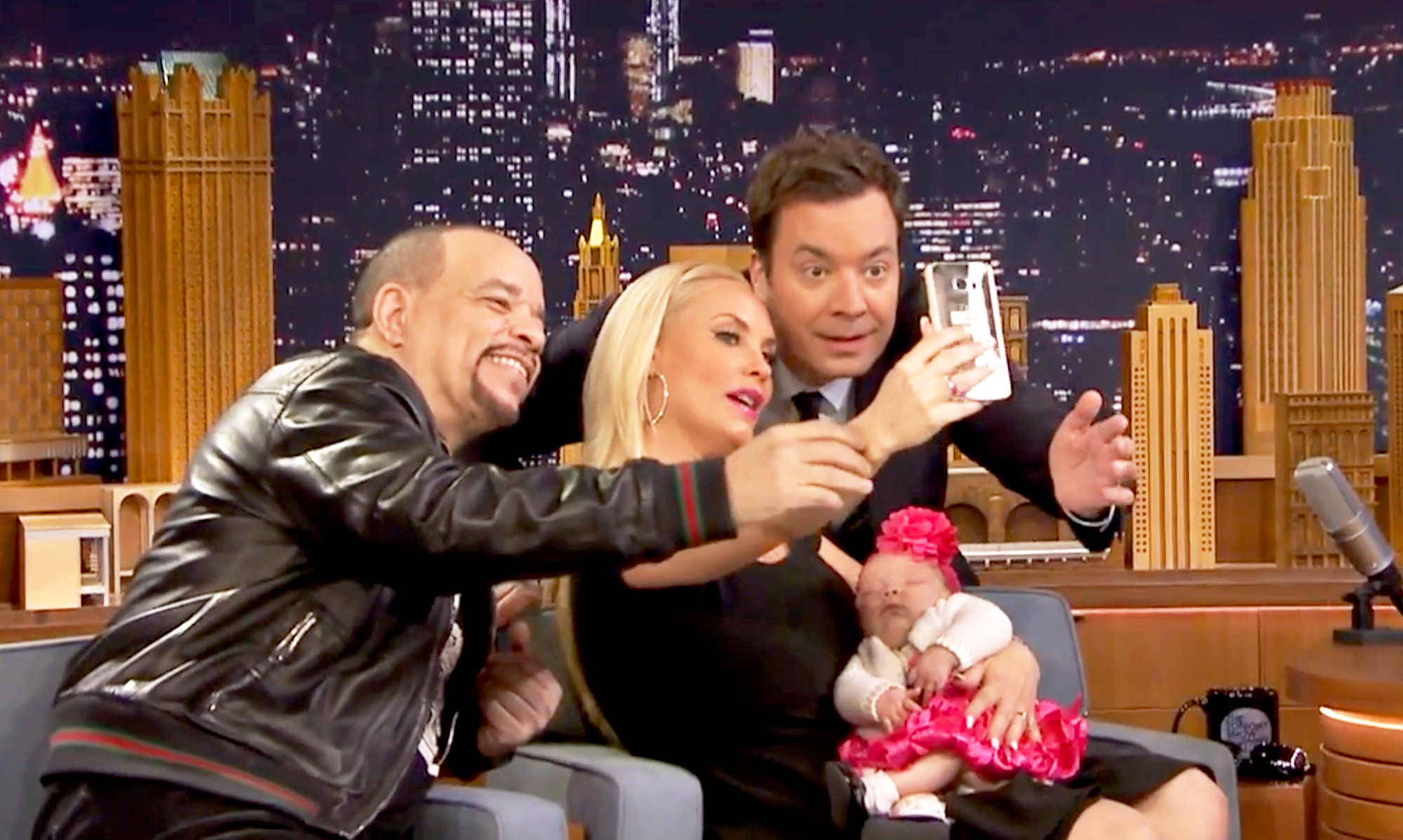 Ice T, Coco Austin, Chanel and Jimmy Fallon