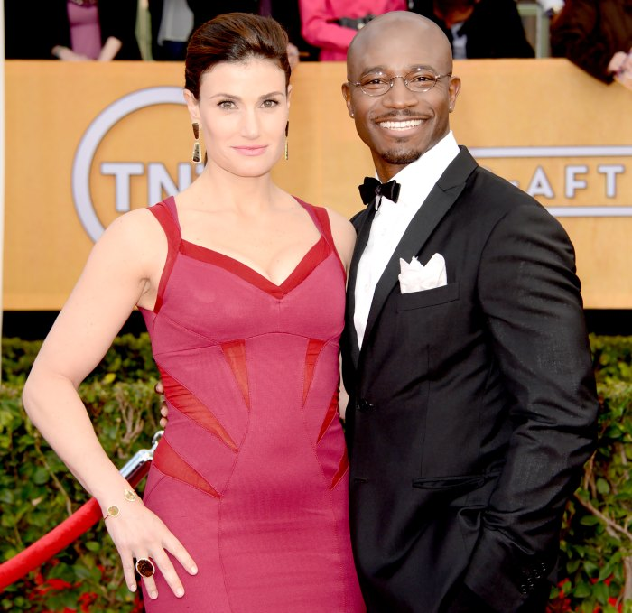 Idina Menzel and Taye Diggs attend the 19th Annual Screen Actors Guild Awards at The Shrine Auditorium on January 27, 2013 in Los Angeles, California.
