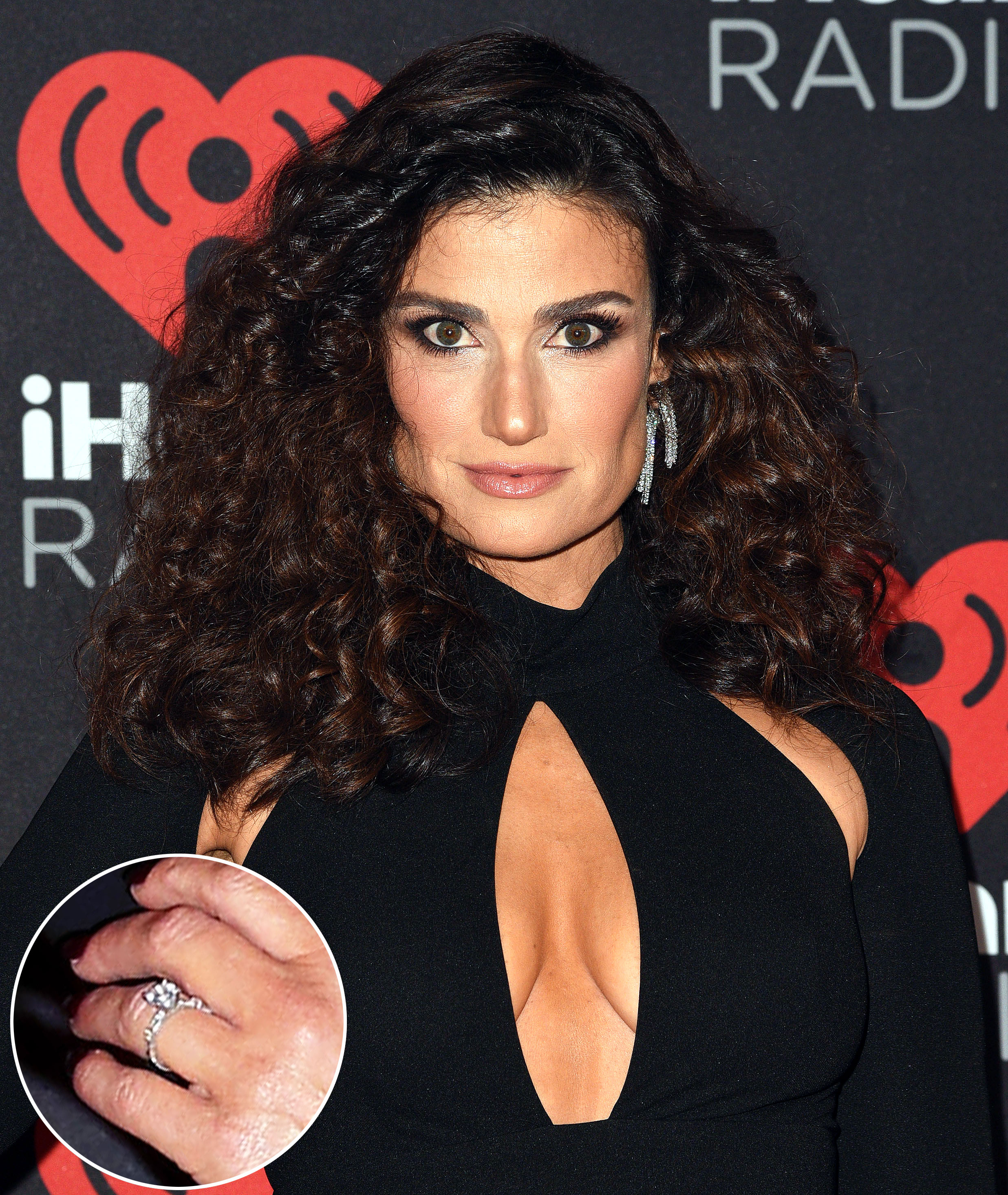 Idina Menzel's Diamond Engagement Ring Is A Stunner: Photos