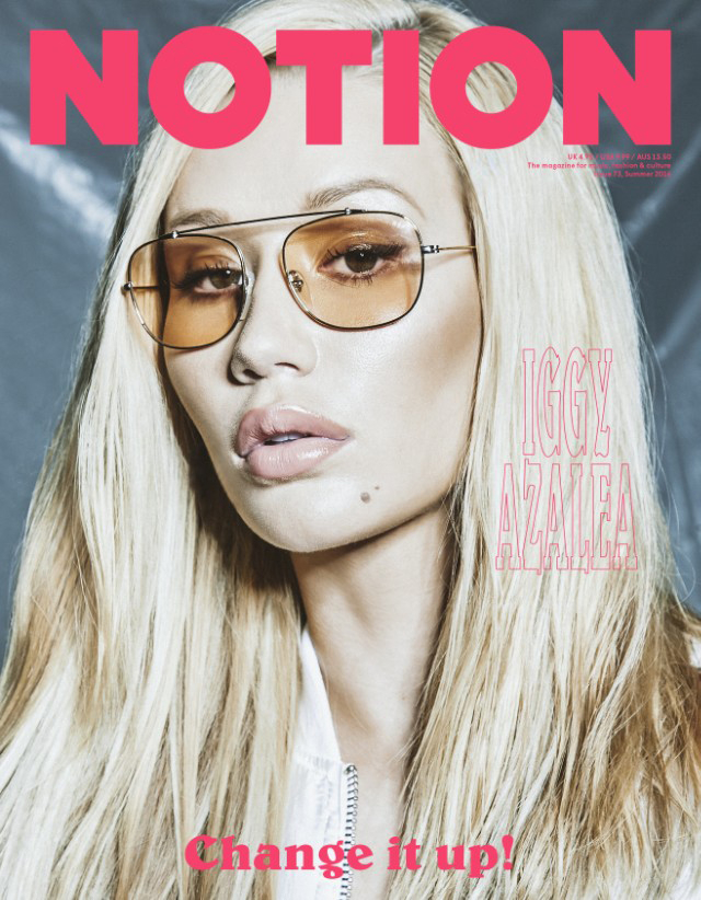 Iggy Azalea on the cover of 'Notion' magazine.