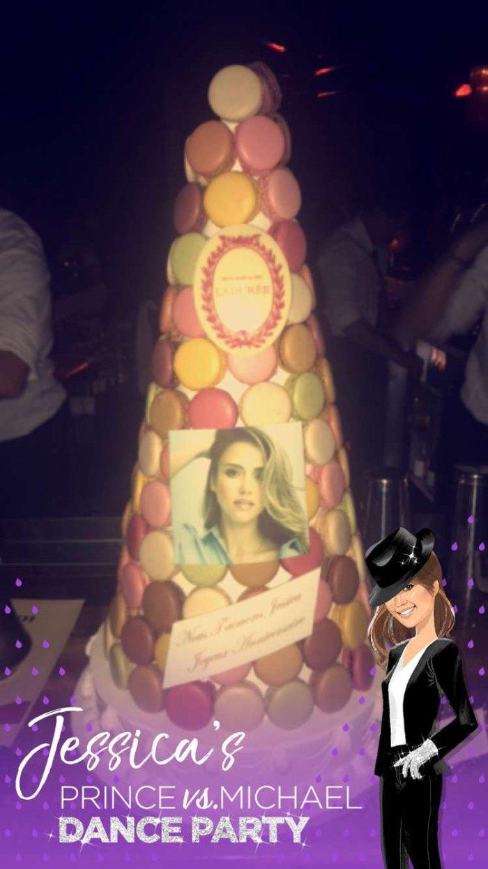 Jessica Alba's birthday cake