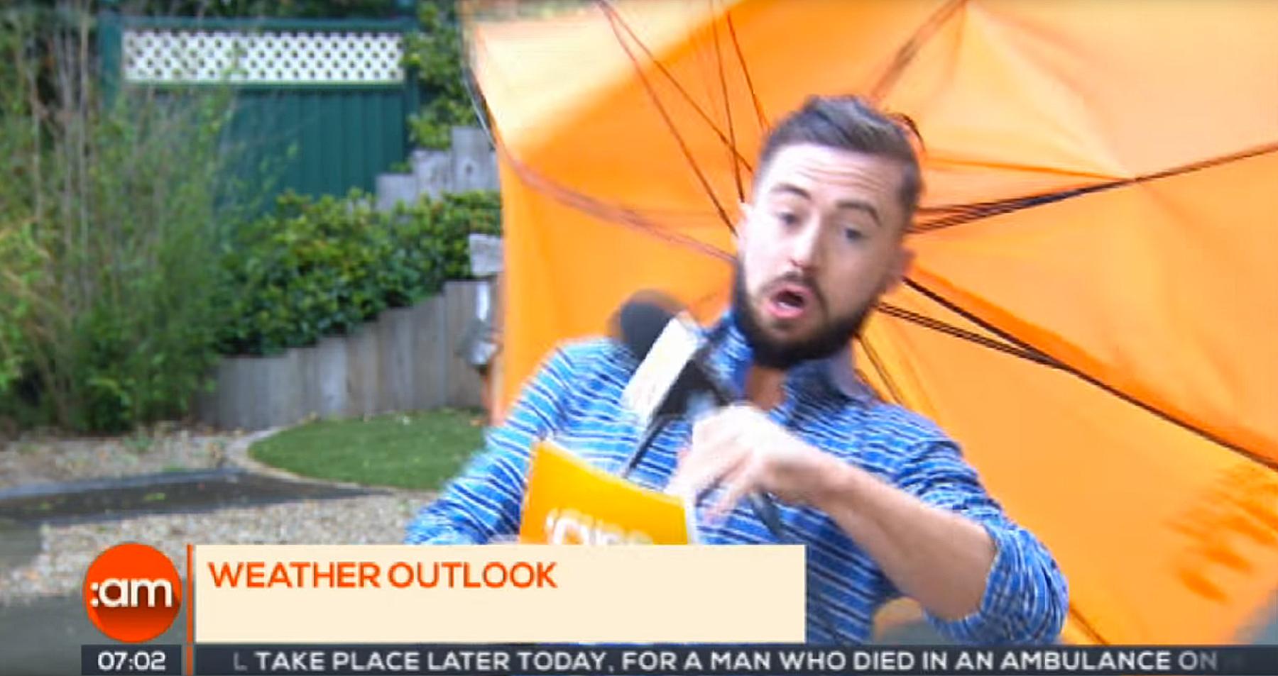 Irish weatherman Deric O h'Artagain