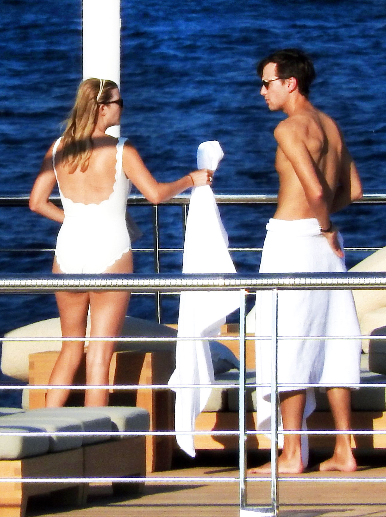 1e551cc1d7 Ivanka Trump Works Post-Baby Body in White Swimsuit: Photos