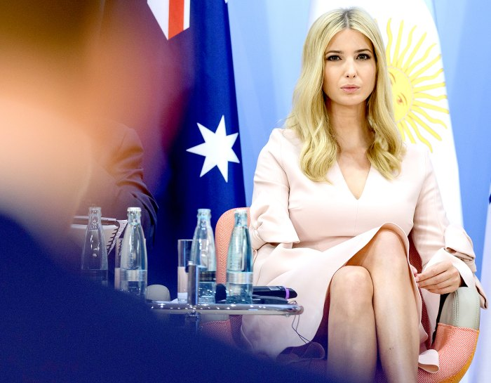 Ivanka Trump attends a panel discussion titled 'Launch Event Women's Entrepreneur Finance Initiative' on the second day of the G20 summit in Hamburg, Germany, on July 8, 2017.