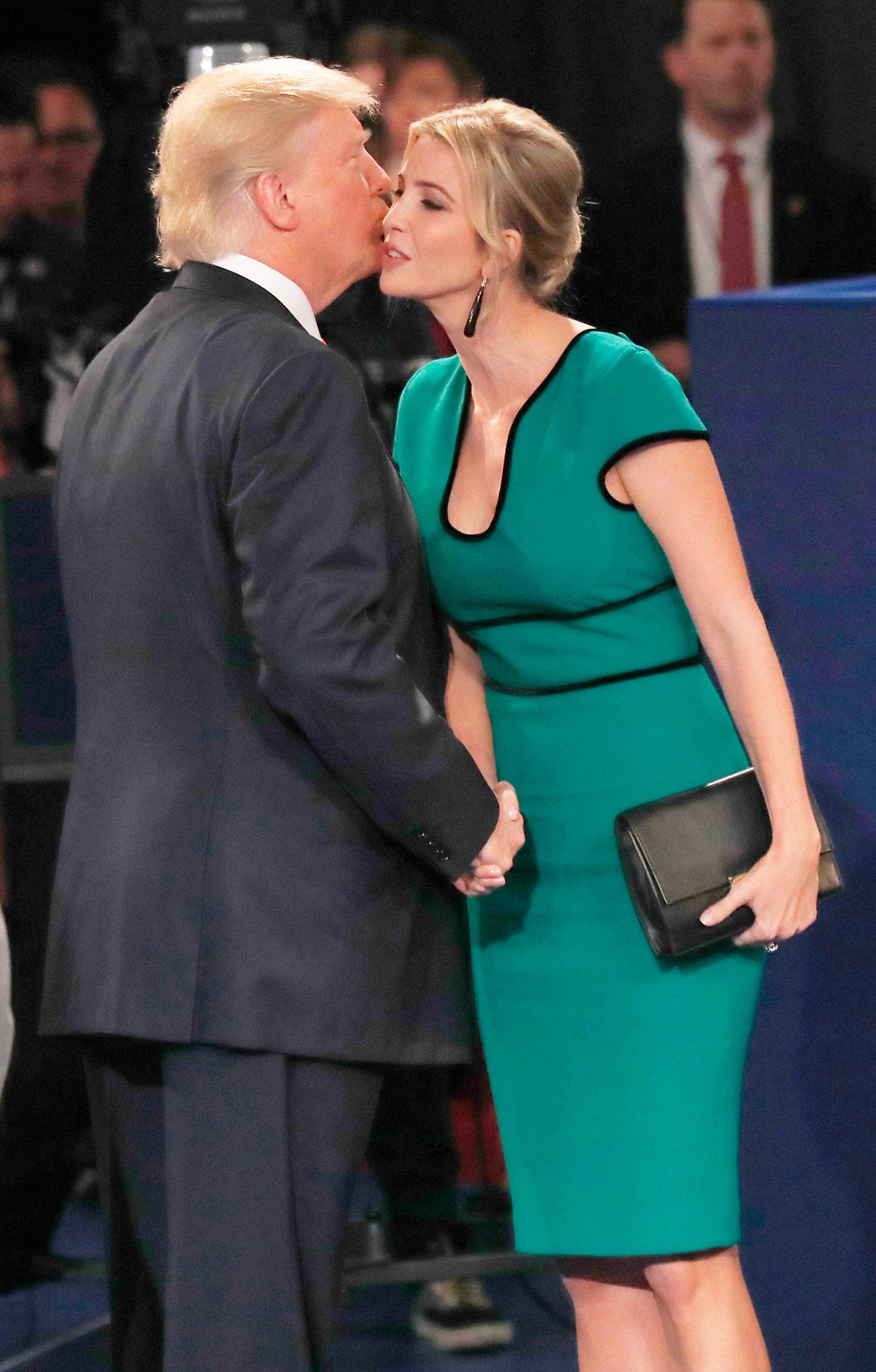 Ivanka Trump\'s Green Dress at Presidential Debate: Details