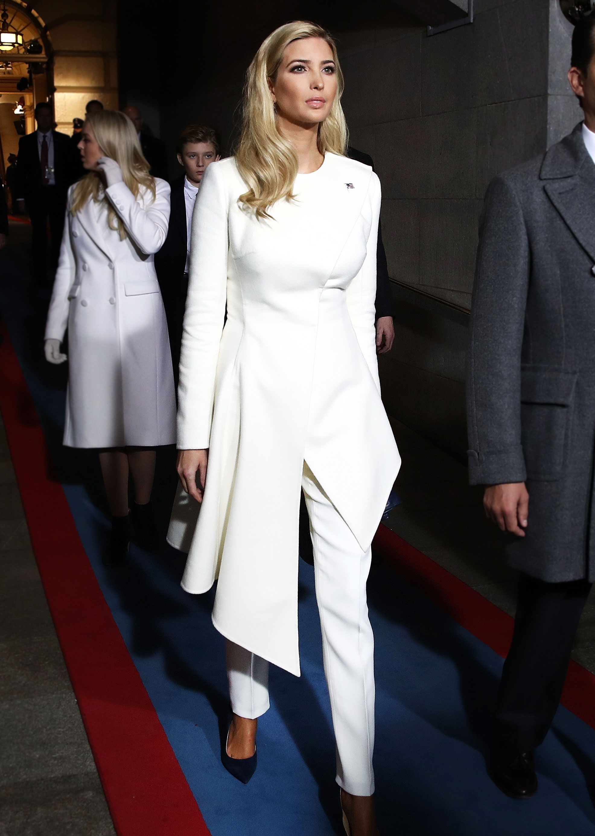 Hillary Clinton, Ivanka Trump Wear White Pantsuits to the Inauguration