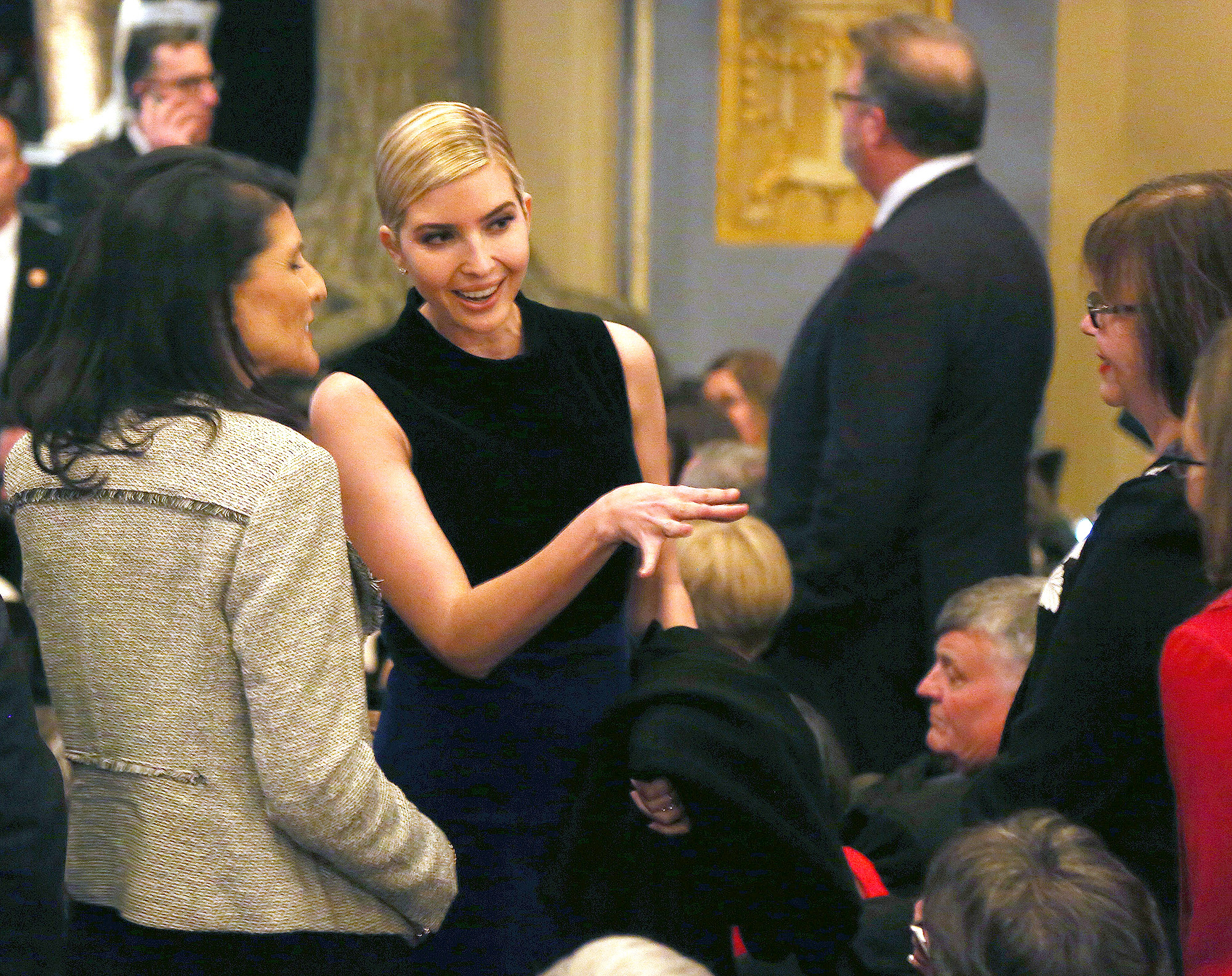 "Ivanka Trump Kushner attends the hit musical ""Come from Away"" on Broadway at The Schoenfeld Theatre on March 15, 2017 in New York City."