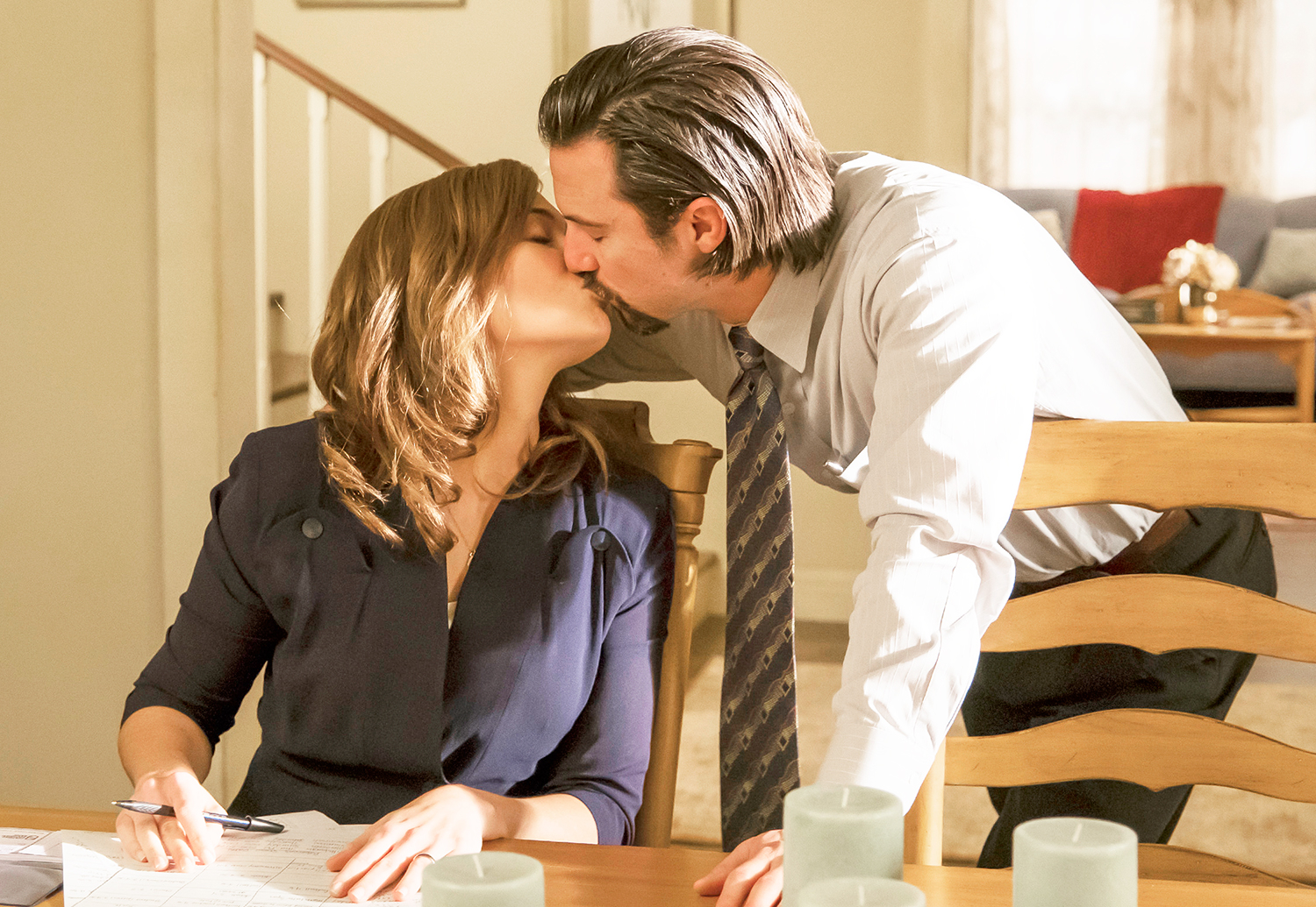Mandy Moore as Rebecca and Milo Ventimiglia as Jack in 'This Is Us.'