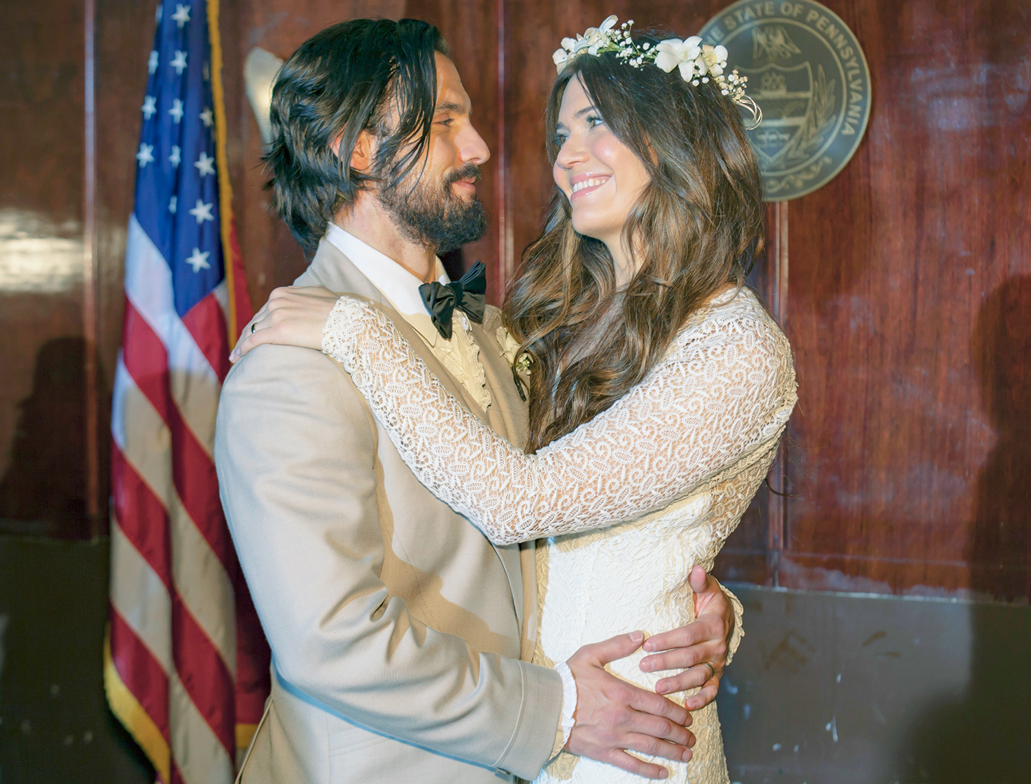 Milo Ventimiglia as Jack and Mandy Moore as Rebecca in 'This Is Us.'