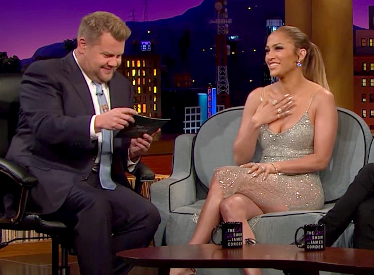 James Corden and Jennifer Lopez