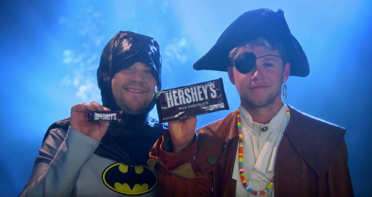 James Corden and Niall Horan