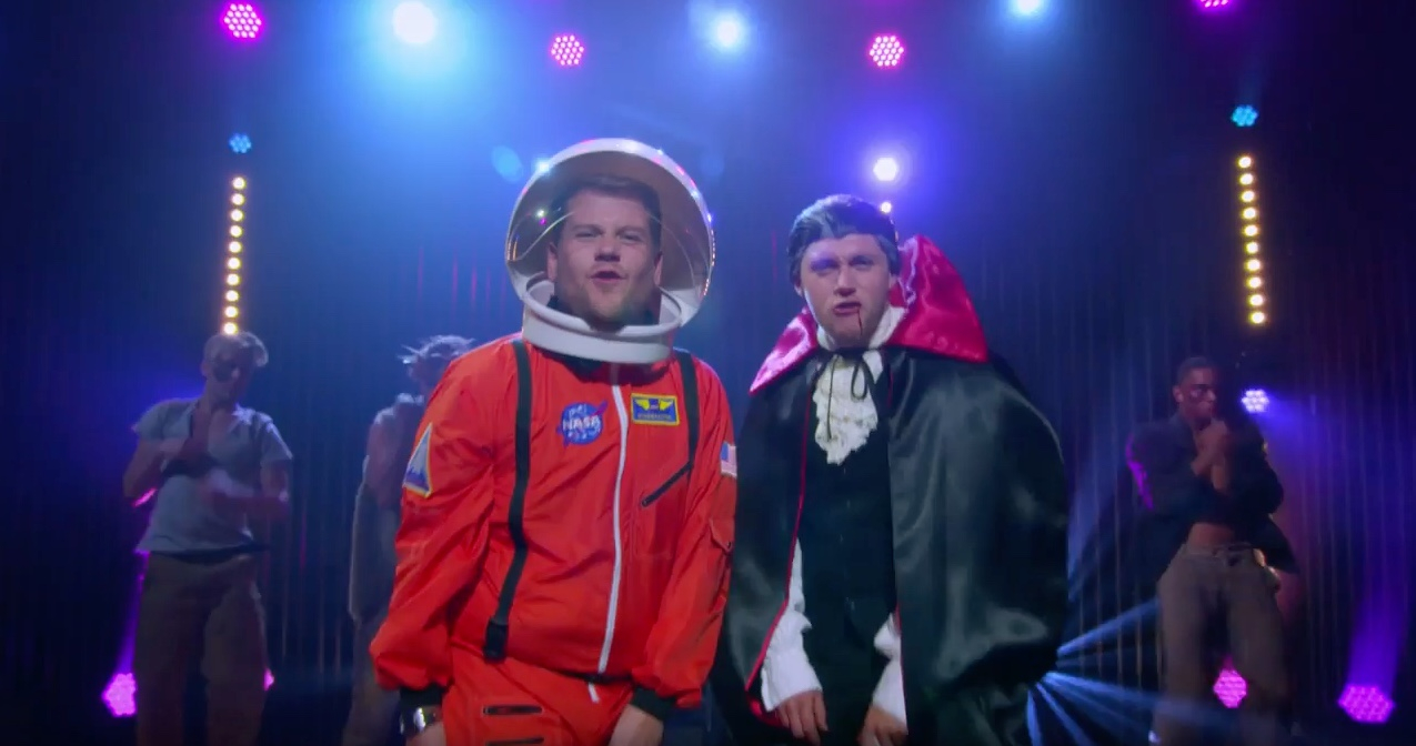 James Corden and Niall Horan sang about Halloween