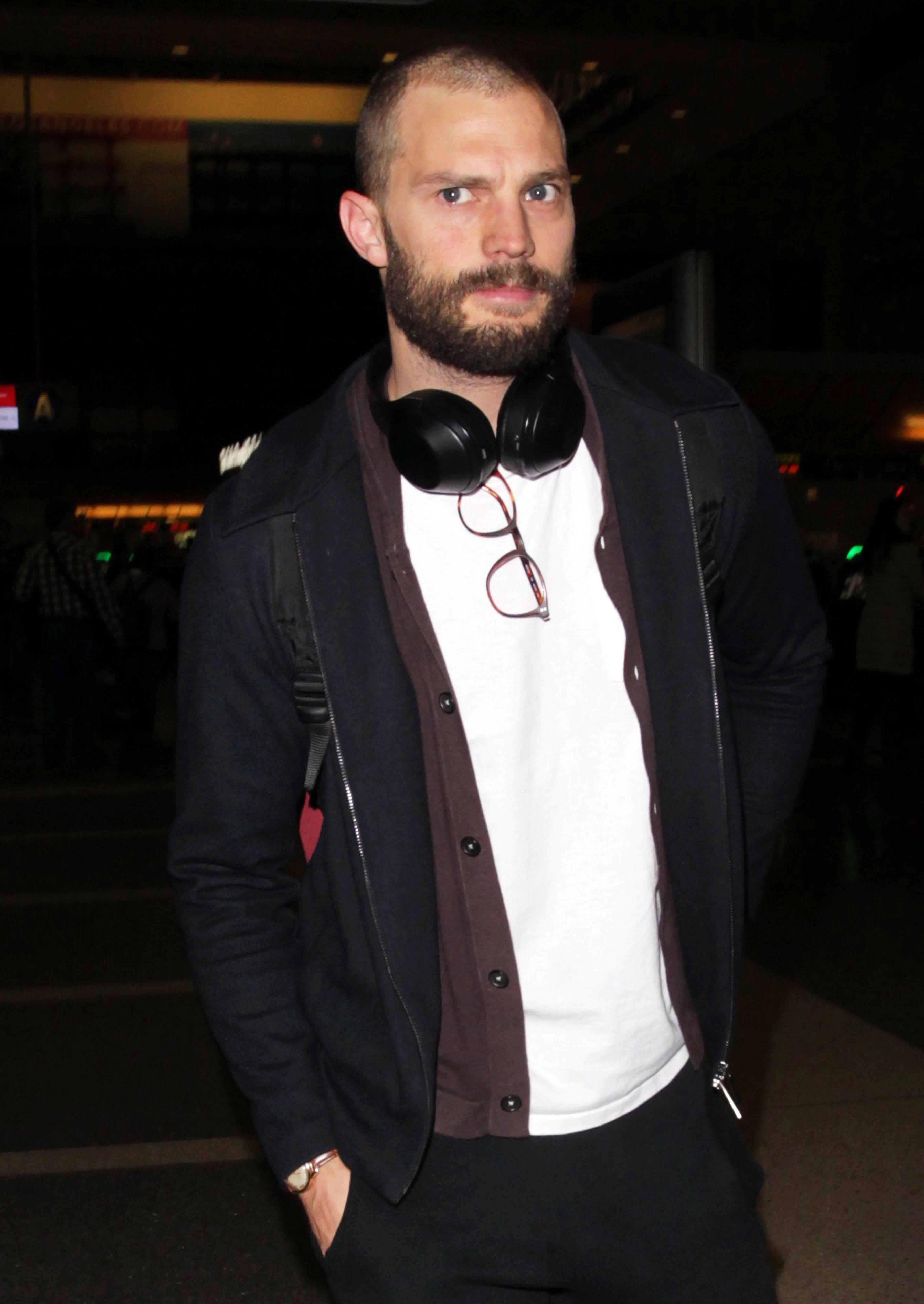 Cool Jamie Dornan Debuts Buzz Cut With Bushy Beard Photos Schematic Wiring Diagrams Phreekkolirunnerswayorg