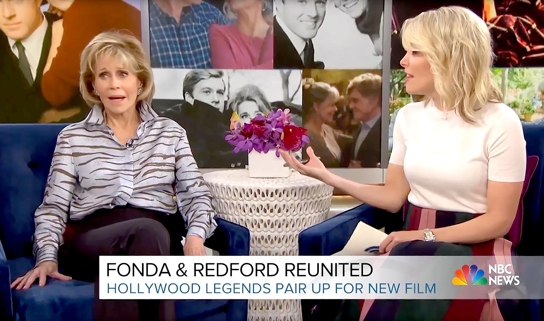 Jane Fonda and Megyn Kelly