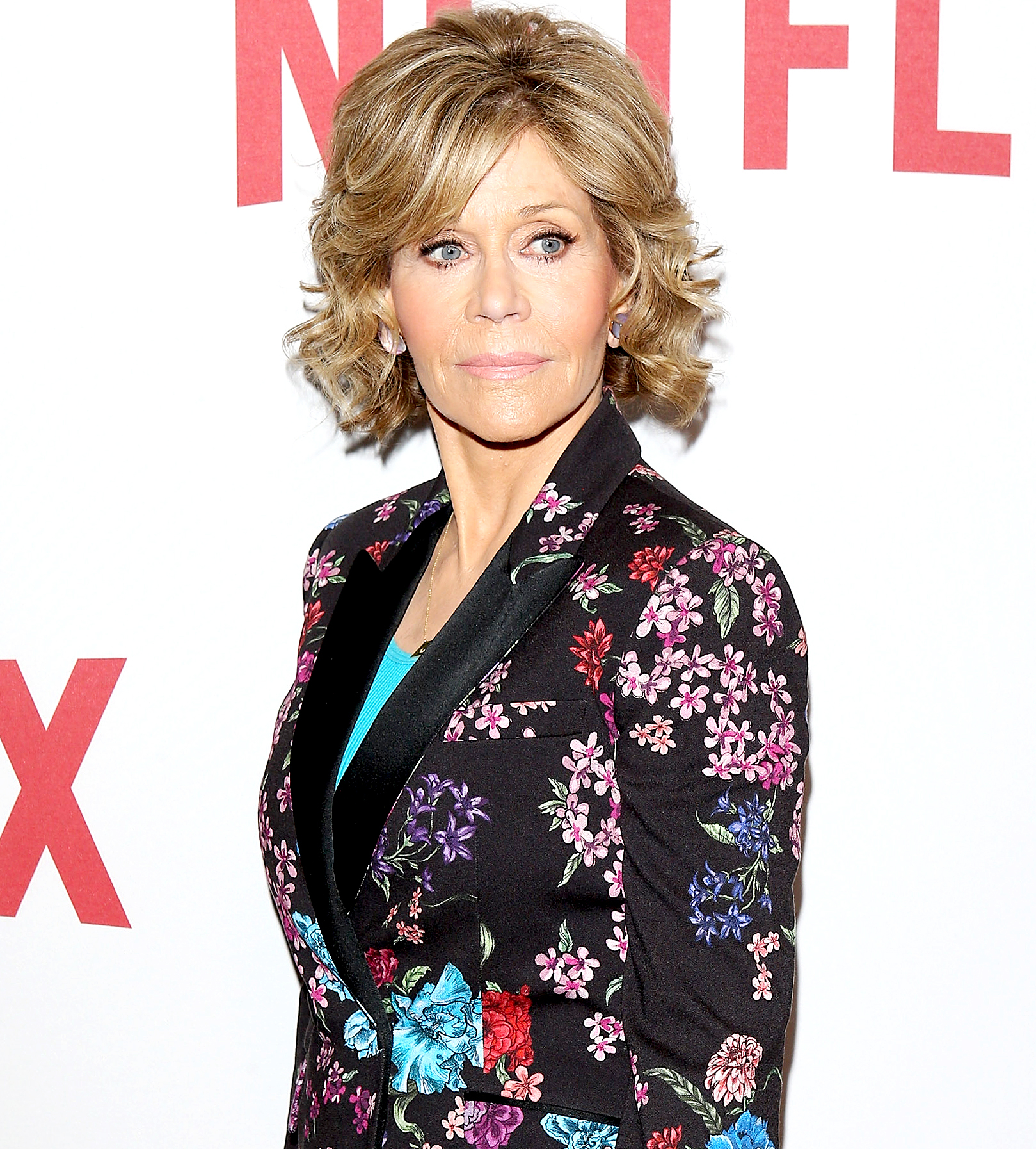 Jane Fonda arrives at Netflix's Rebels and Rule Breakers celebrating The Women of Netflix held at the Beverly Wilshire Four Seasons Hotel on May 14, 2016 in Beverly Hills, California.