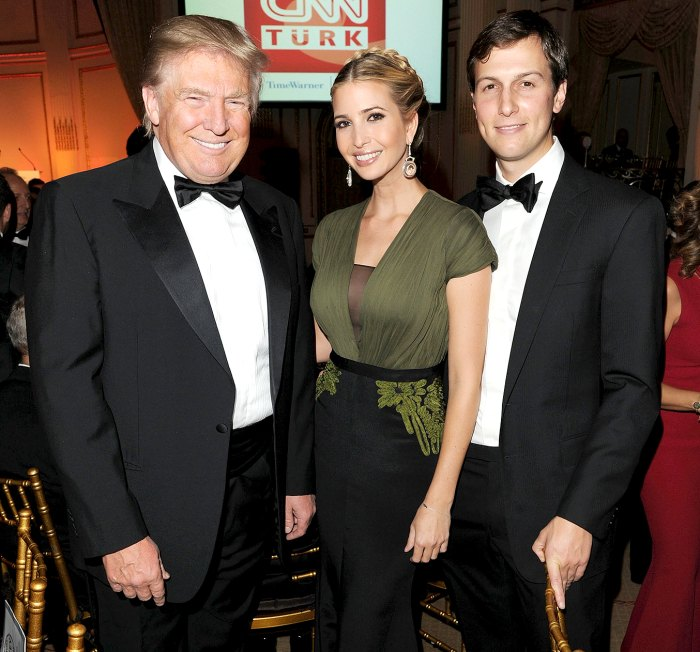 Donald Trump, Ivanka Trump and Jared Kushner attend the Turkish Society Annual Dinner Gala at The Plaza Hotel on October 18, 2012 in New York City.